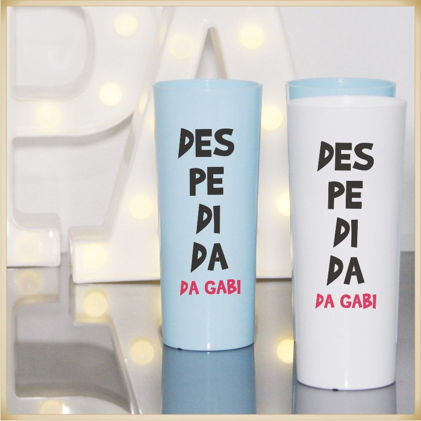 Copos Long Drink acrílico Personalizados para Festas de Despedidas de Solteiro