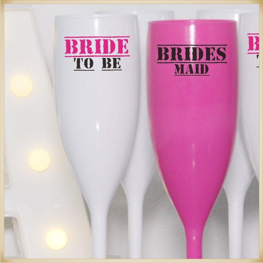 Taças de Acrílico Personalizada para festa Casamento Noivas e Madrinhas - Kit com 50 unidades