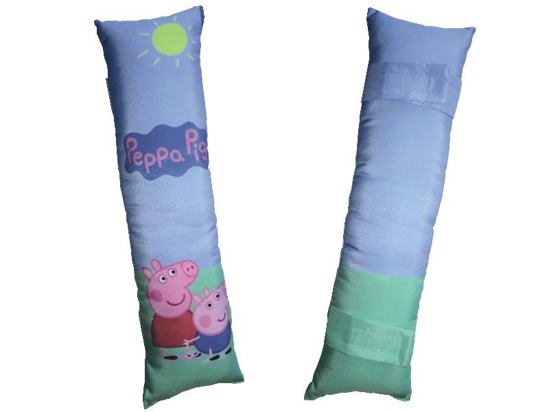 Kit Infantil Peppa Pig - Almofada de Pescoço + Almofada de Cinto + Caneca Plástica