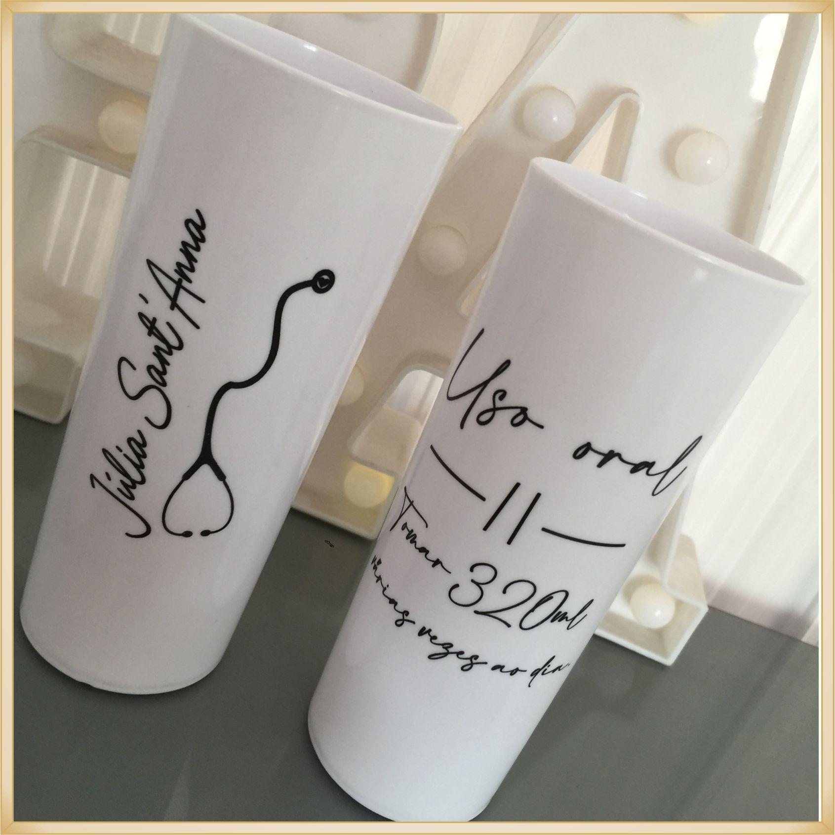 Kit personalizado de formatura chinelos + copos long drink - 10 unidades de cada