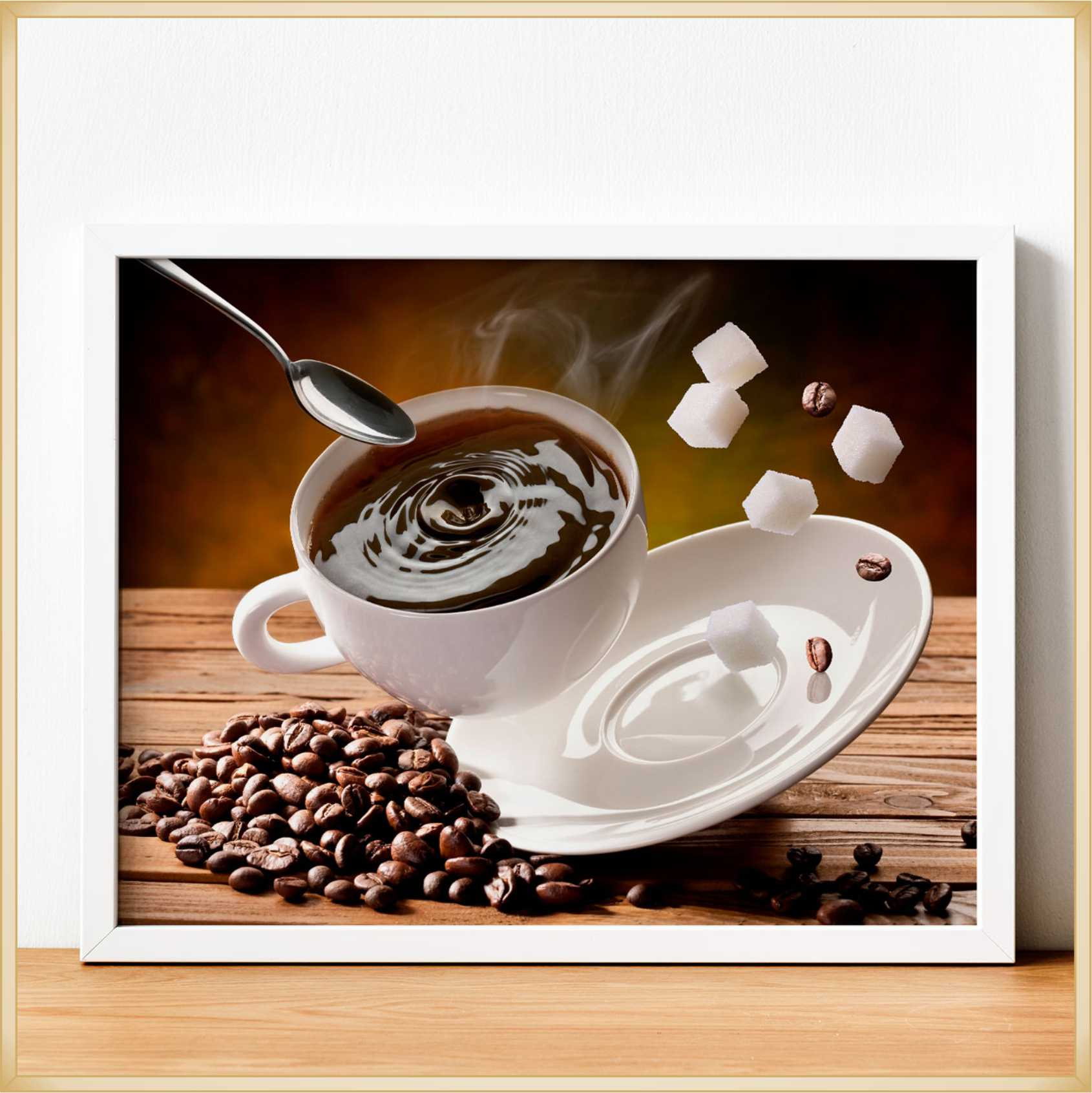 Quadro decorativo Placa personalizada Modelos Café – Ótima qualidade, não risca, não desbota, acabamento perfeito, fixação com dupla face, Mdf 6 mm