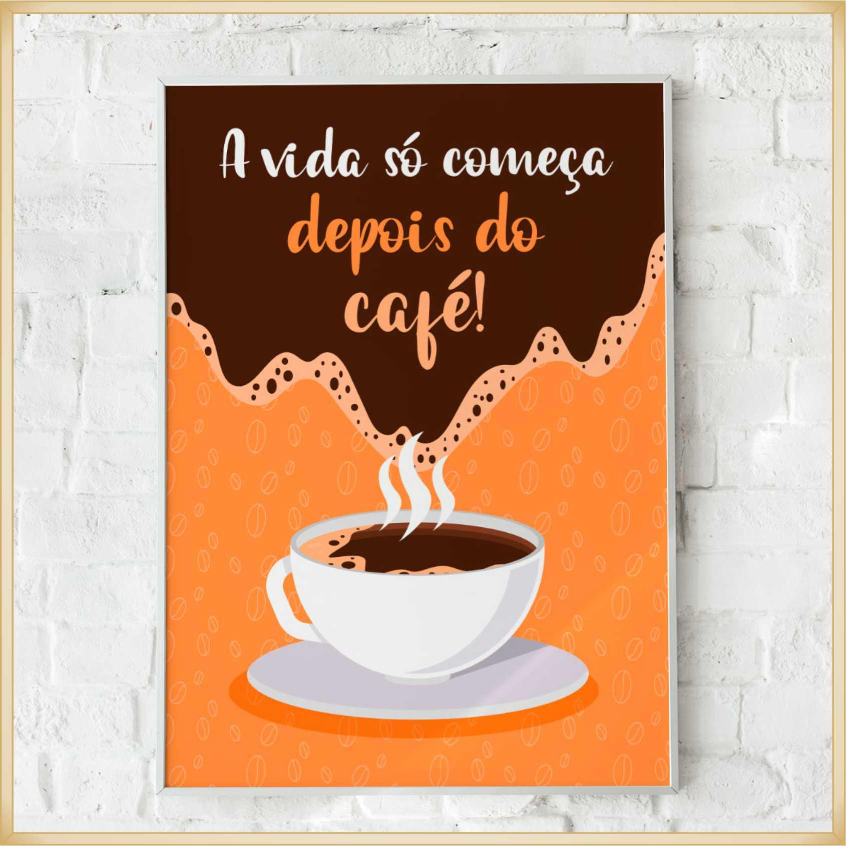 Quadros decorativos personalizados Modelos Café – Ótima qualidade, não risca, não desbota, acabamento perfeito, fixação com dupla face, Mdf 6 mm