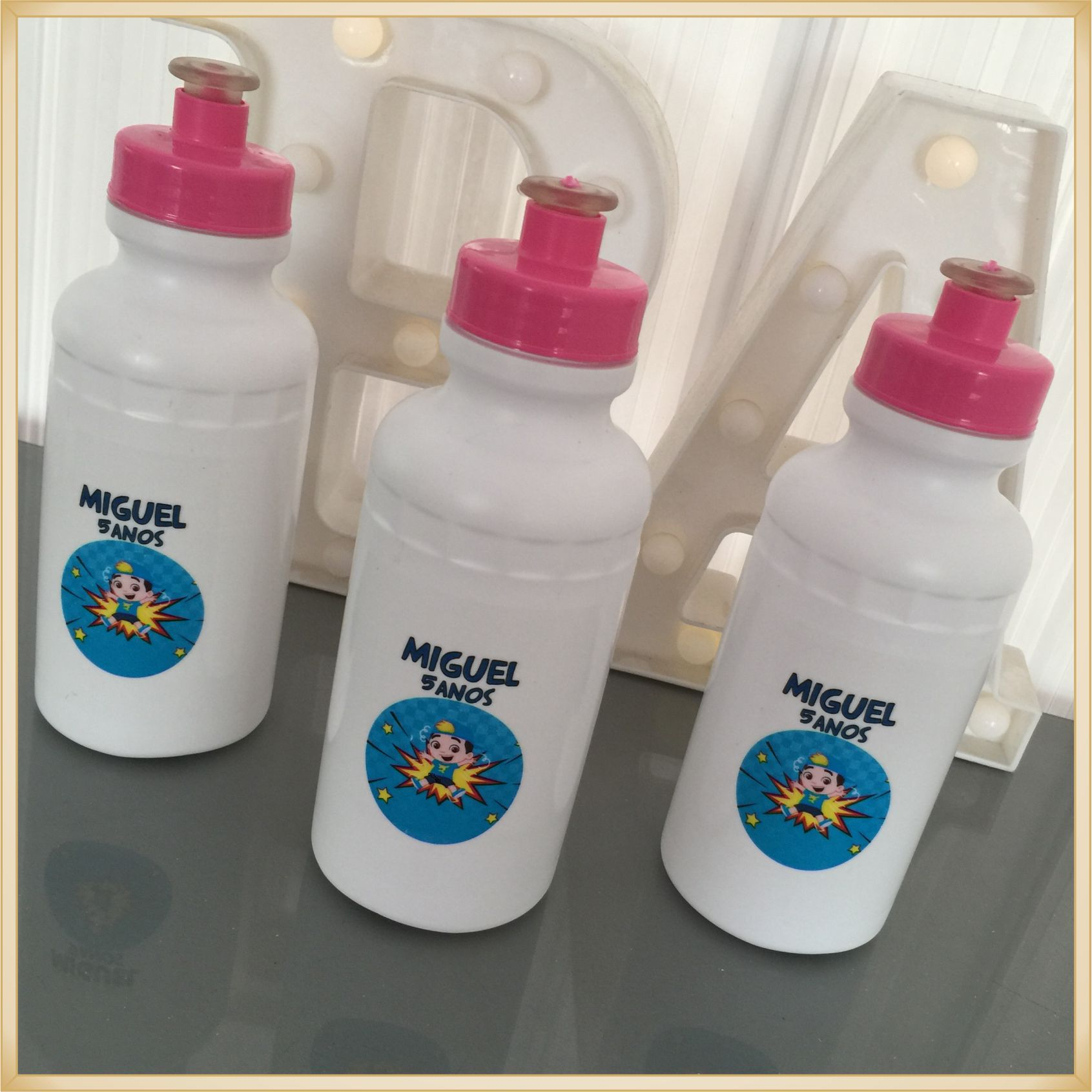 Squeeze Personalizado de plástico - prático e durável, estampa brilhante de alta qualidade, volume 500 ml, resistente a quedas. - kit 50 unidades