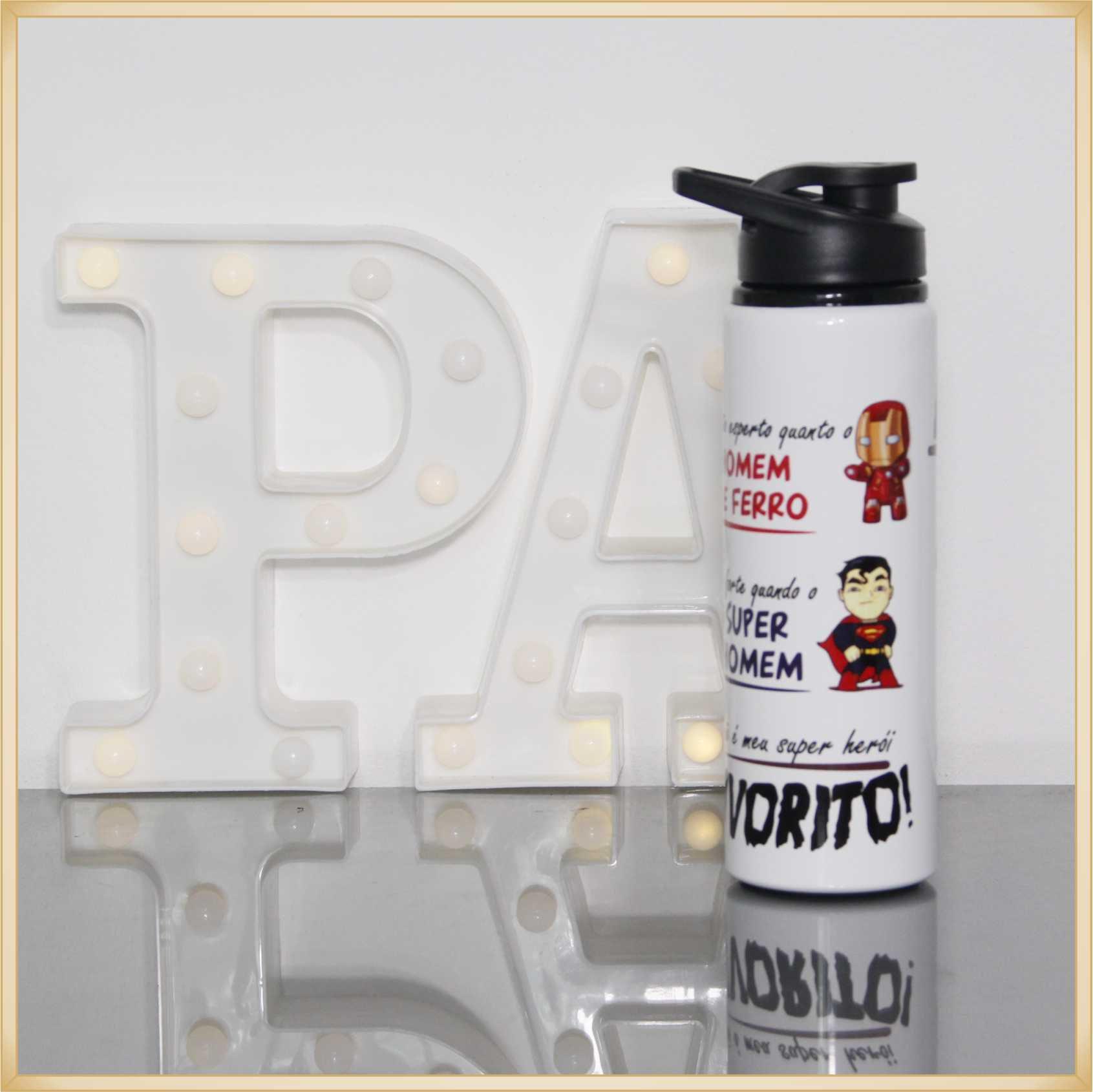 Squeeze personalizado garrafinha para água papai favorito presente dia dos pais