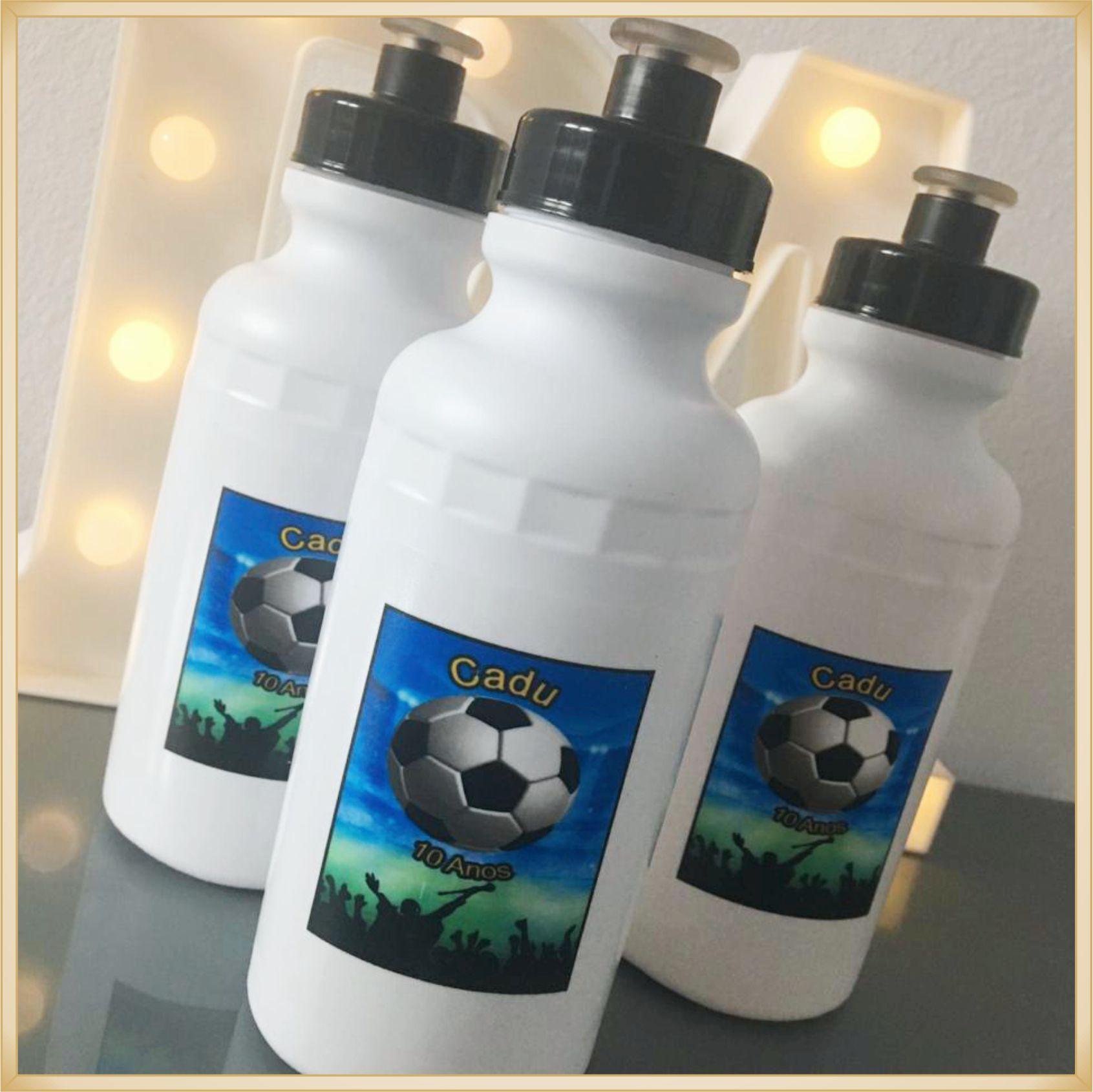 Squeeze Personalizado para aniversário infantil - prático e durável, estampa brilhante de alta qualidade, volume 500 ml, resistente. kit 30 unidades