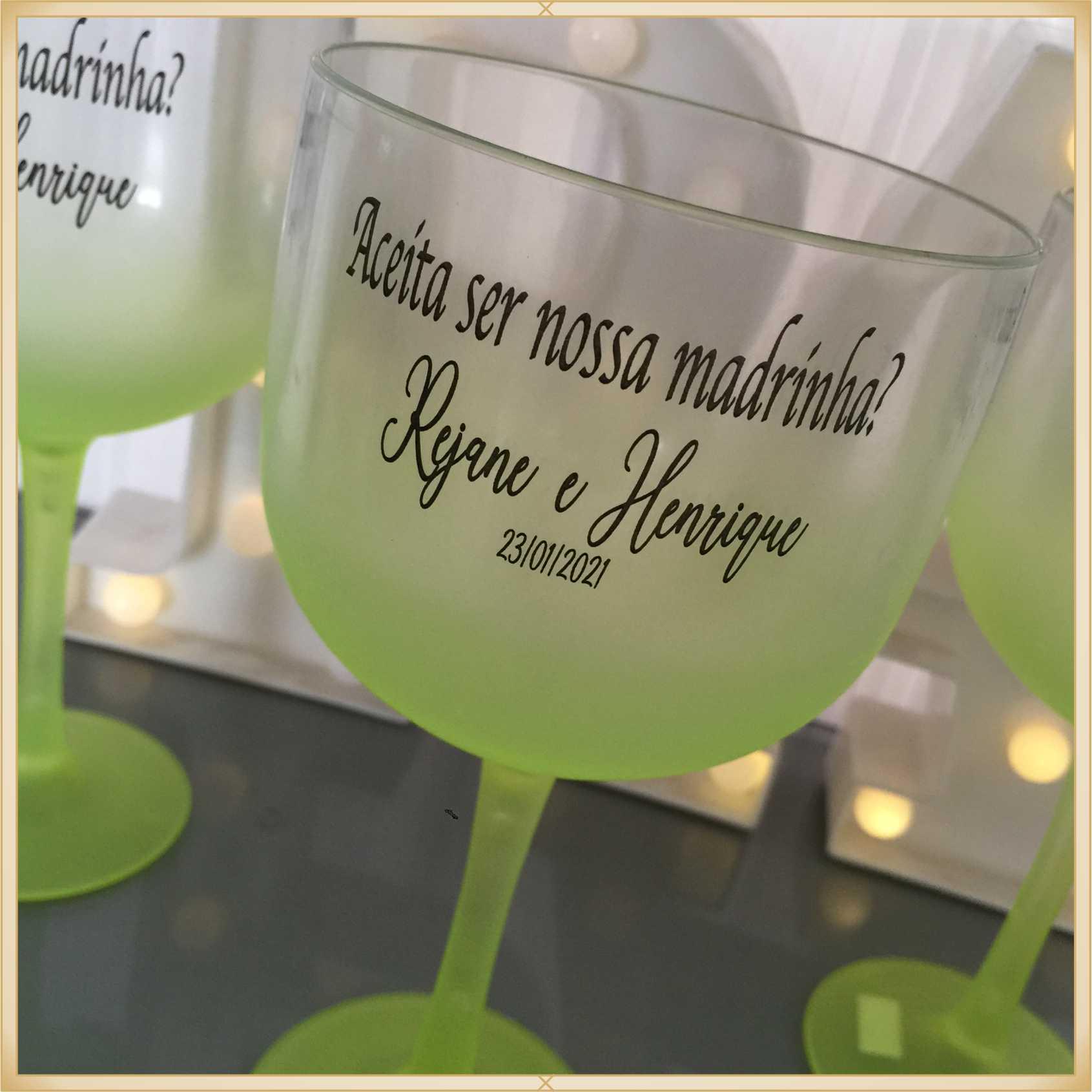 Taça de gin Degradê personalizada Casamento - produto de alta qualidade, brilhante, ótimo acabamento, parede 2,5 mm, material atóxico, 580 ml. 15 unid