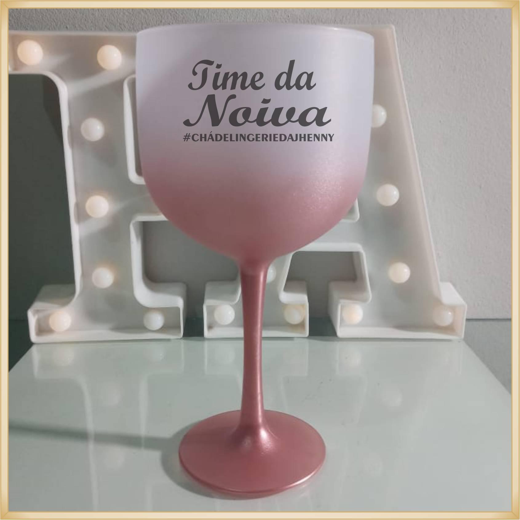 Taça de gin degradê personalizada Despedida de Solteira - produto de alta qualidade, brilhante, ótimo acabamento, parede de 2,5 mm, material atóxico, 580 ml.
