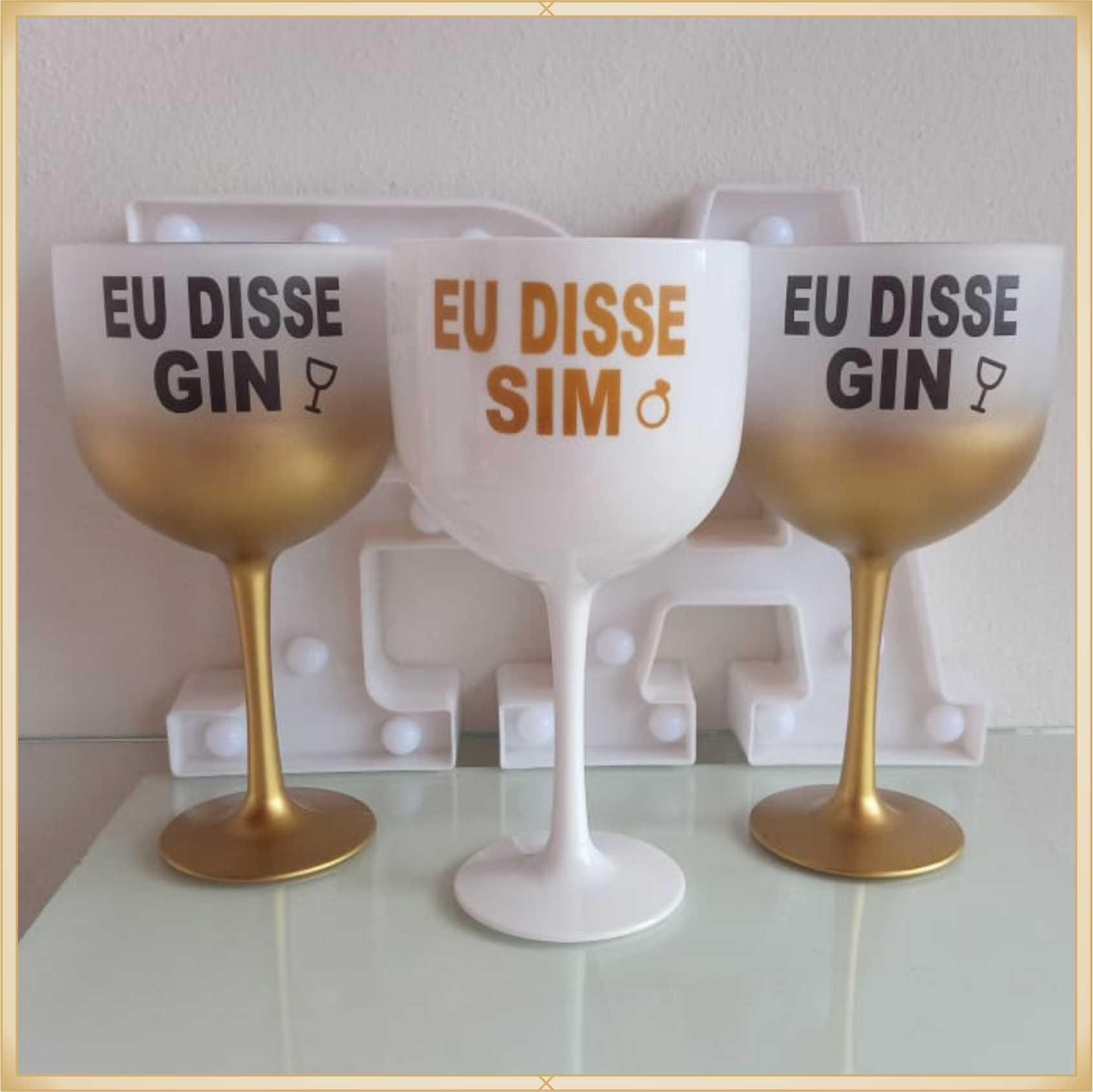 Taça de gin degradê personalizada Despedida de Solteira - produto de alta qualidade, brilhante, ótimo acabamento, parede de 2,5 mm, material atóxico, 580 ml. Kit 10 unidades