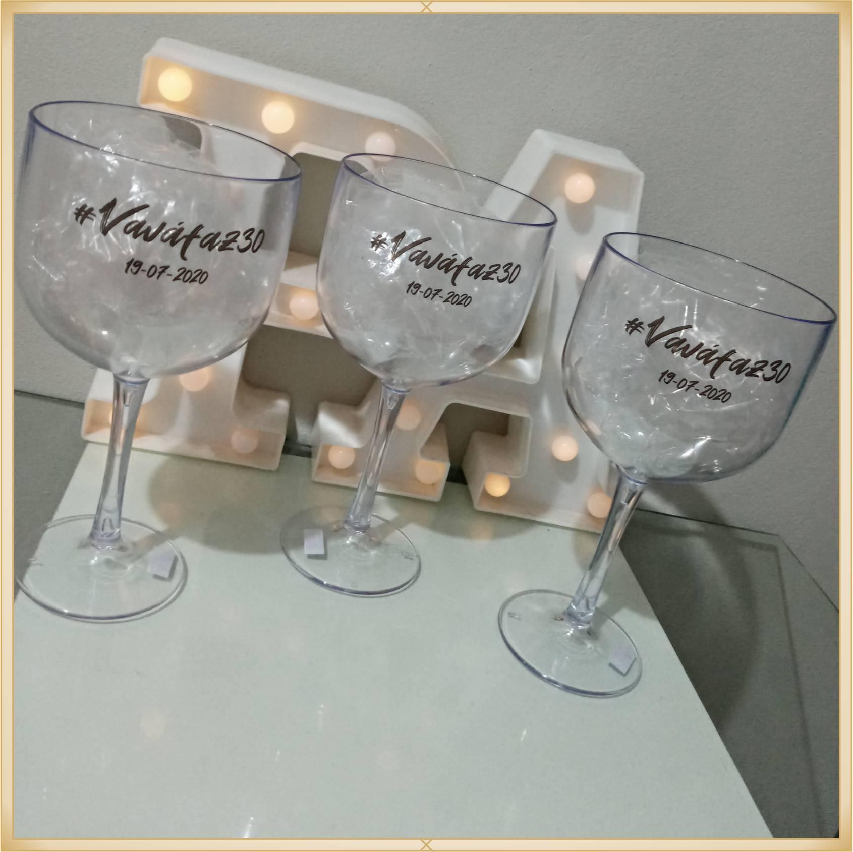 Taça de gin personalizada Aniversário - alta qualidade, brilhante, ótimo acabamento, parede de 2,5 mm, material atóxico, 580 ml