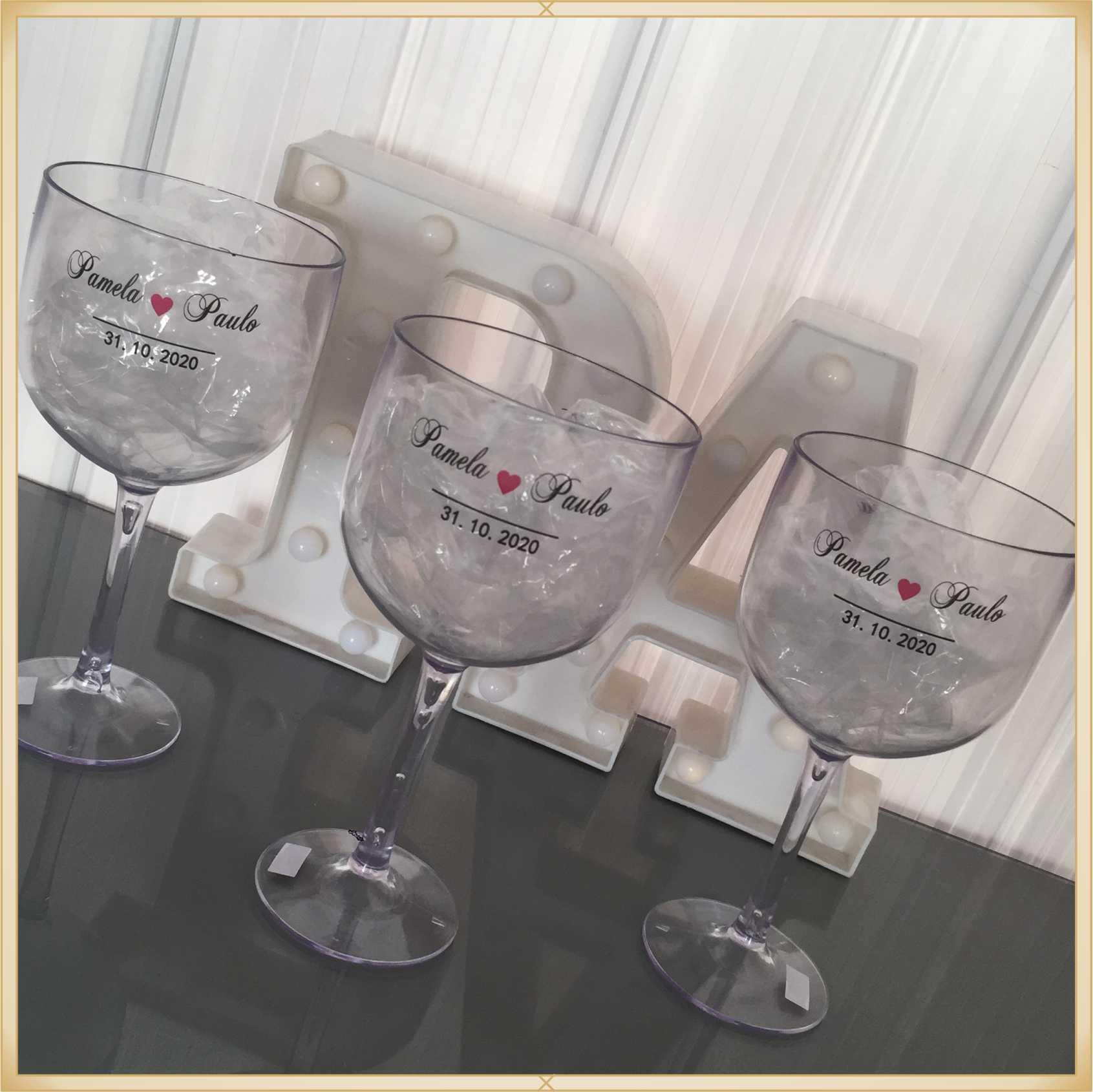 Taça de gin personalizada Despedida de Solteira - alta qualidade, brilhante, ótimo acabamento, parede de 2,5mm, material atóxico, 580ml - kit 10 unid.