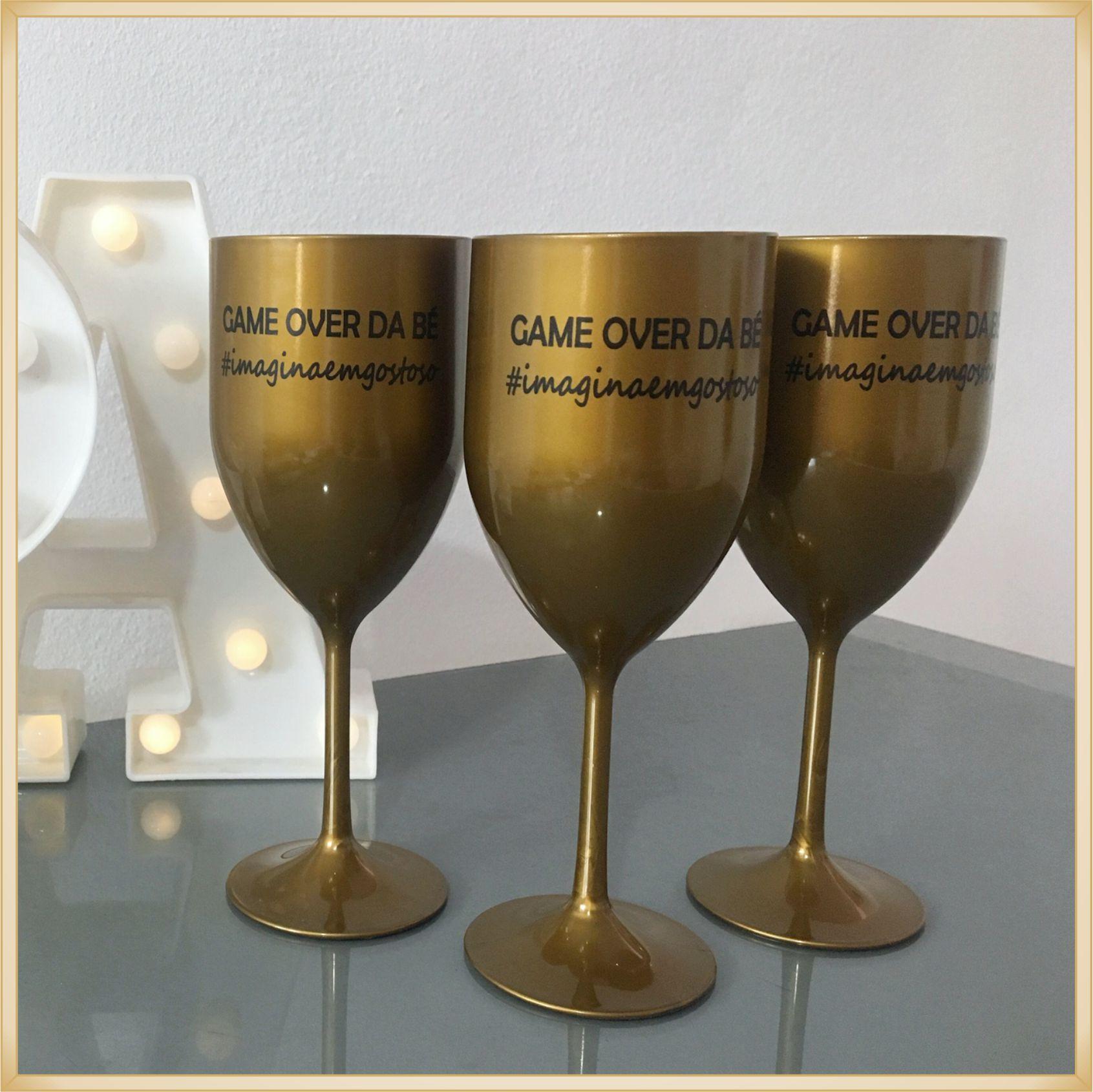 Taças de vinho acrílico Personalizadas - estampas de qualidade, brilhante e durável, acabamento perfeito, parede de 2,0 mm, 350 ml. kit 100 unidades