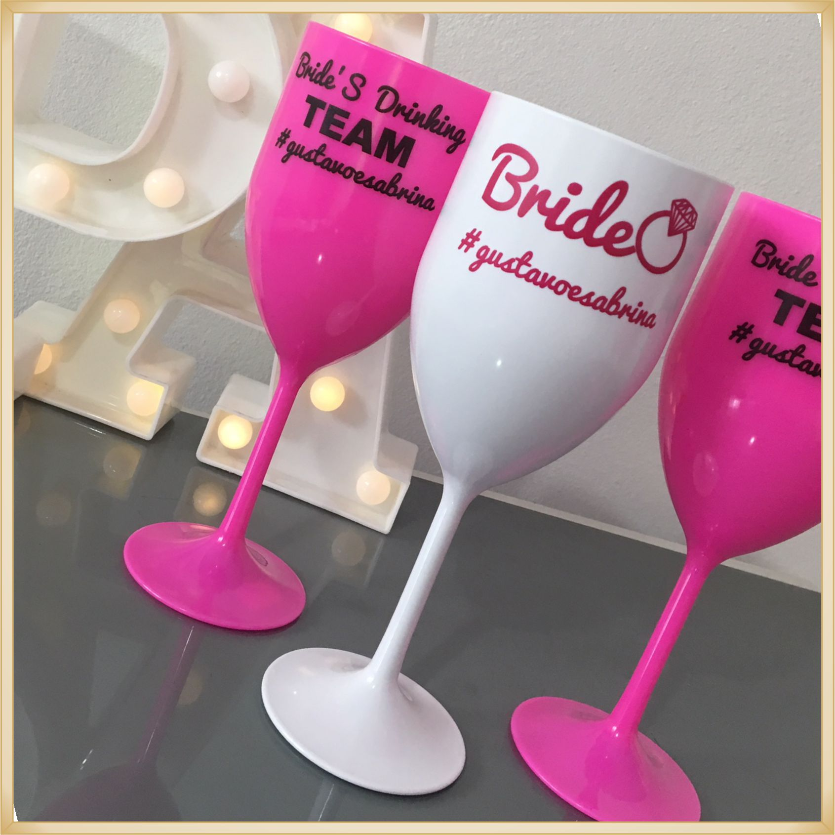 Taças de vinho acrílico Personalizadas - estampas de qualidade, brilhante e durável, acabamento perfeito, parede de 2,0 mm, 350 ml. kit 20 unidades