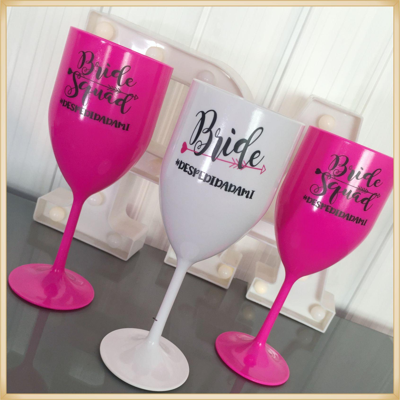 Taças de vinho acrílico Personalizadas - estampas de qualidade, brilhante e durável, acabamento perfeito, parede de 2,0 mm, 350 ml. kit 50 unidades