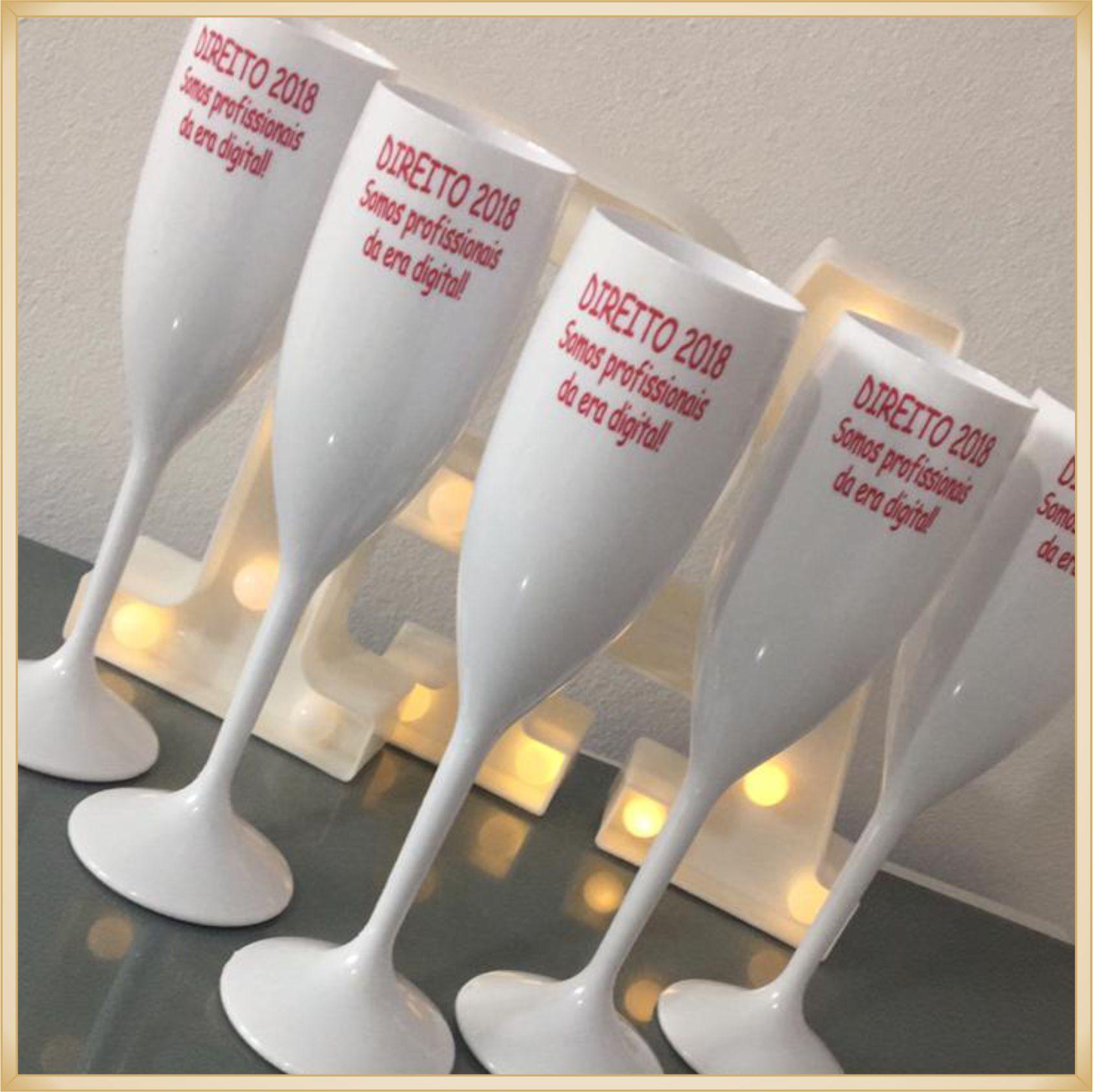 Taças de acrílico Personalizadas Formatura - material de qualidade, brilhante, acabamento perfeito, parede 2,0mm, produto Atóxico, 190ml. kit 100 unid