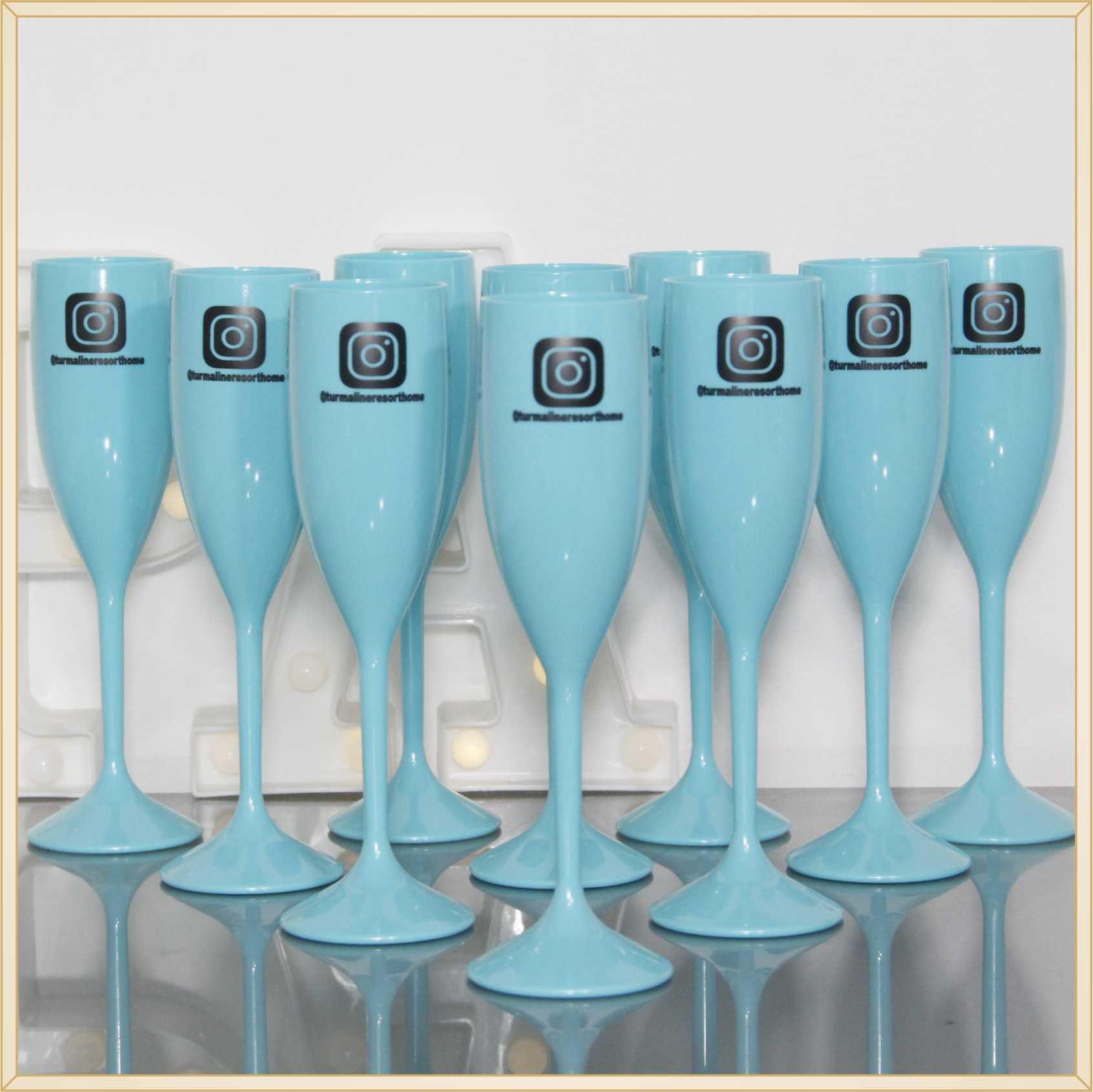 Taças de acrílico Personalizadas Empresas - material de qualidade, brilhante, acabamento perfeito, parede 2,0mm, produto Atóxico, 190ml. kit 30 unid.