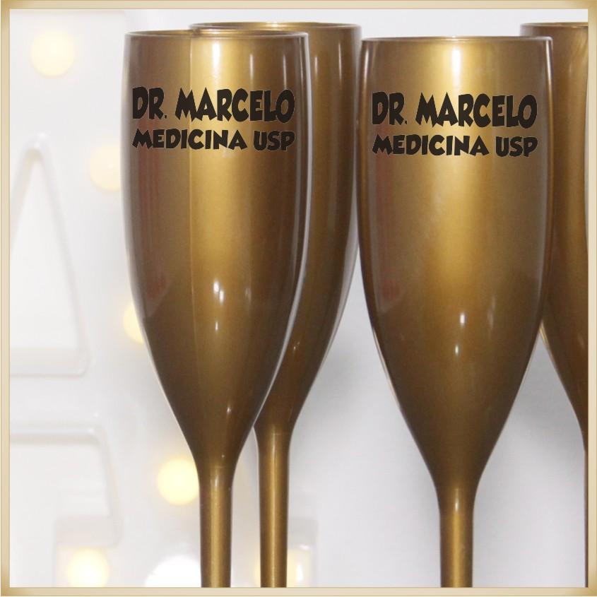 Taças de acrílico Personalizadas Formatura - material de qualidade, brilhante, acabamento perfeito, parede 2,0mm, produto Atóxico, 190ml. kit 30 unid.
