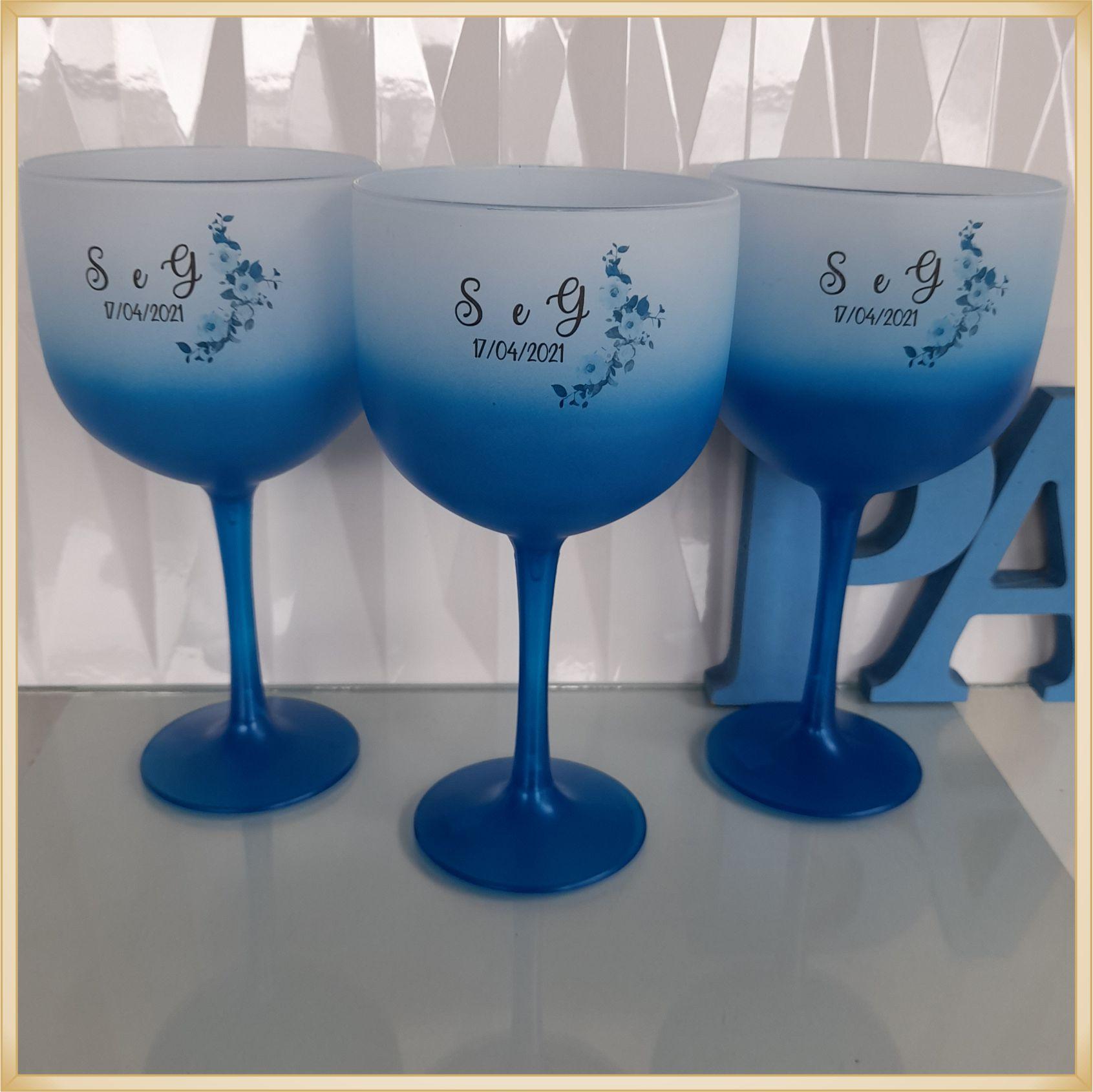 Taças de gin Degrade personalizada Casamento - produto de alta qualidade, brilhante, ótimo acabamento, parede 2,5 mm, material atóxico, 580 ml