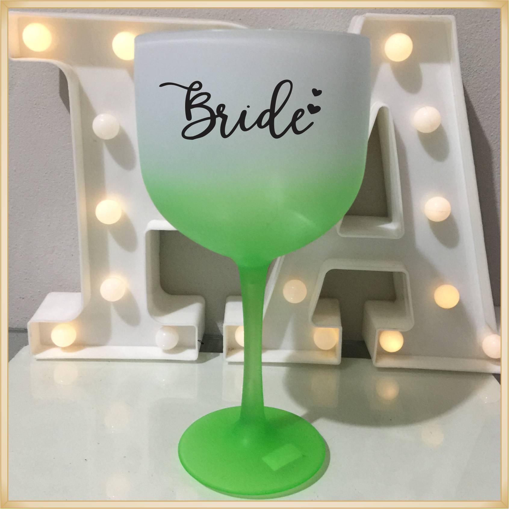Taças de gin Degradê personalizada Casamento - produto de alta qualidade, brilhante, ótimo acabamento, parede 2,5 mm, material atóxico, 580 ml. 15 unid