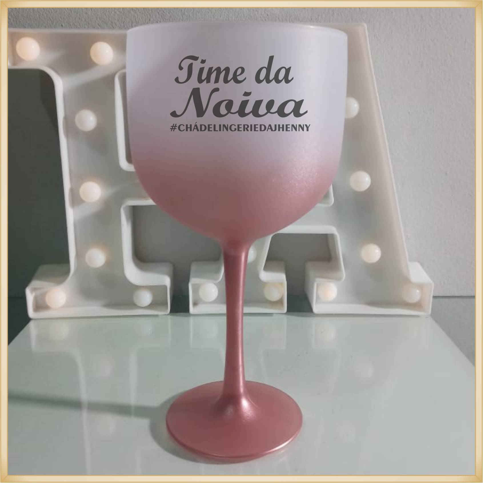 Taças de gin Degradê personalizada Casamento - produto de alta qualidade, brilhante, ótimo acabamento, parede 2,5 mm, material atóxico, 580 ml. 10 unid