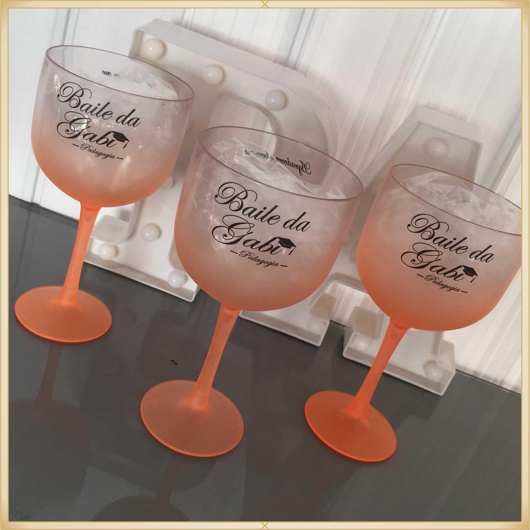 Taças de gin degradê personalizadas - alta qualidade, brilhante, ótimo acabamento, parede de 2,5mm, material atóxico, 580 ml - kit 30 unidades