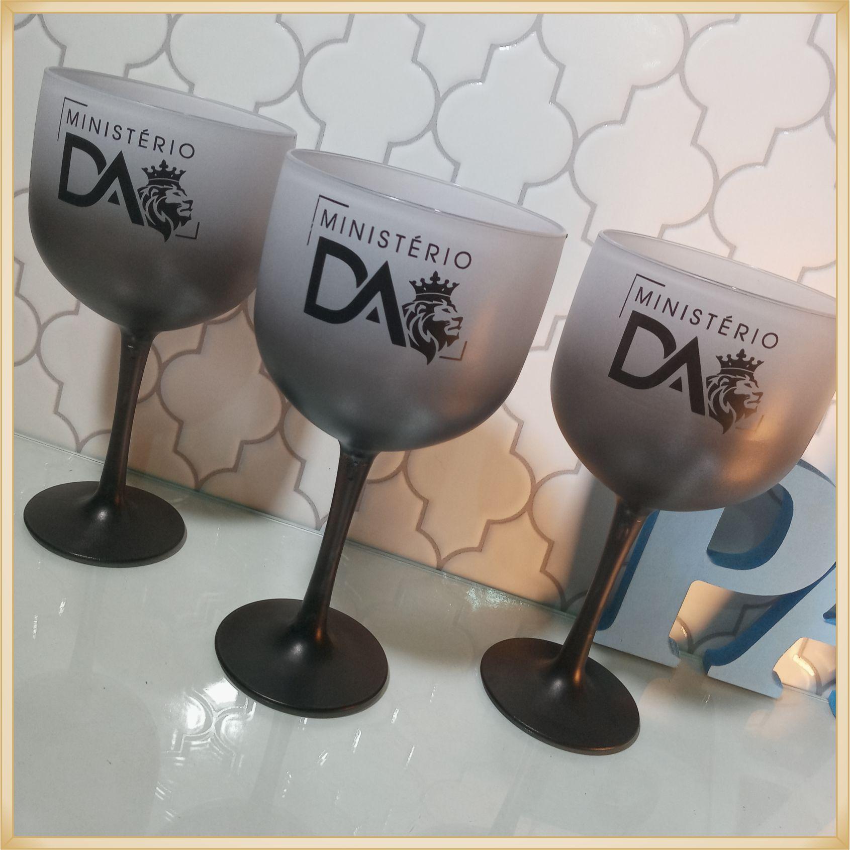 Taças de gin degradê personalizadas - alta qualidade, brilhante, ótimo acabamento, parede de 2,5mm, material atóxico, 580 ml - kit 10 unidades