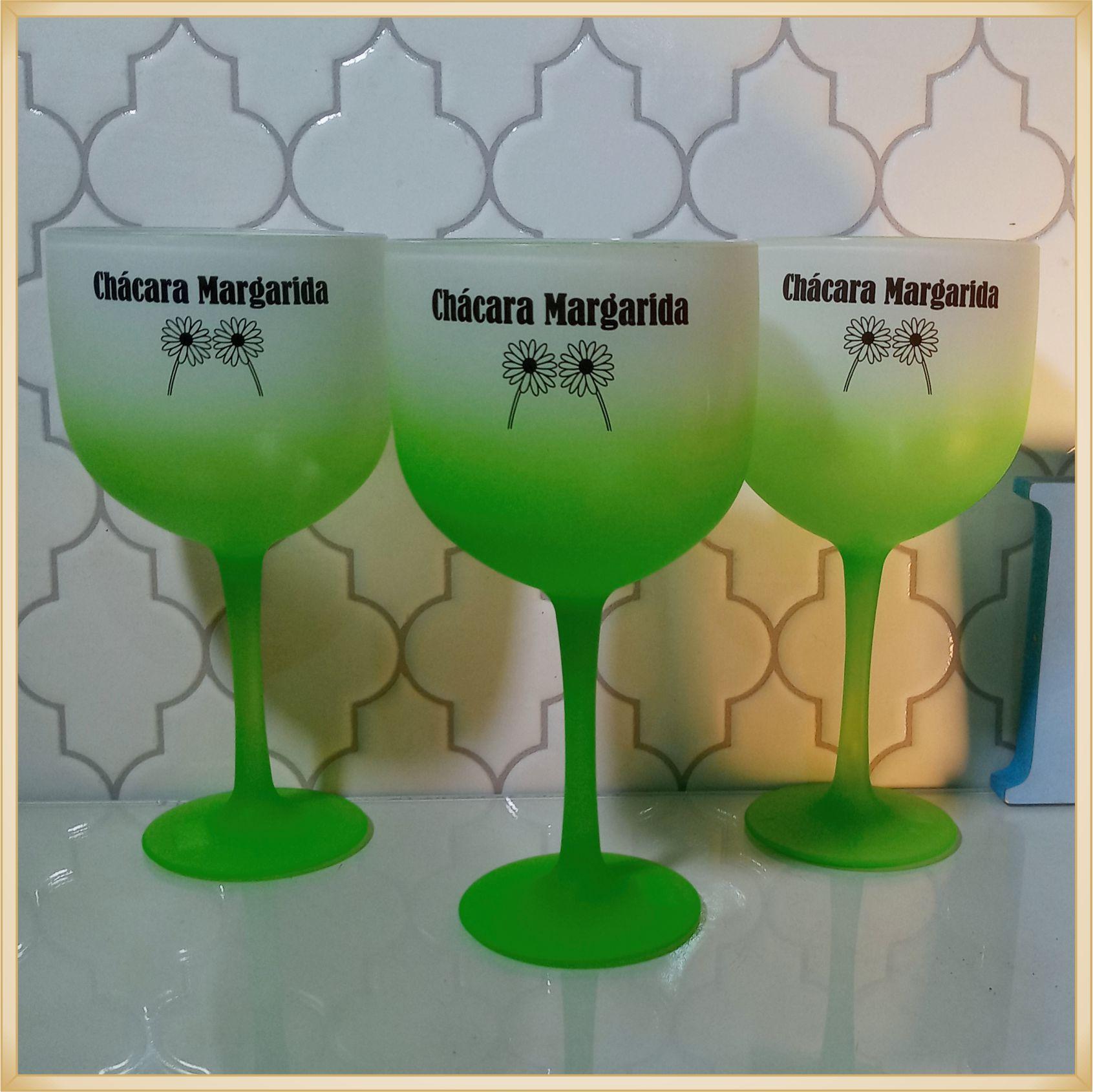 Taças de gin degradê personalizadas empresarial- alta qualidade, brilhante, ótimo acabamento, parede de 2,5mm, material atóxico, 580 ml - kit 10 unidades