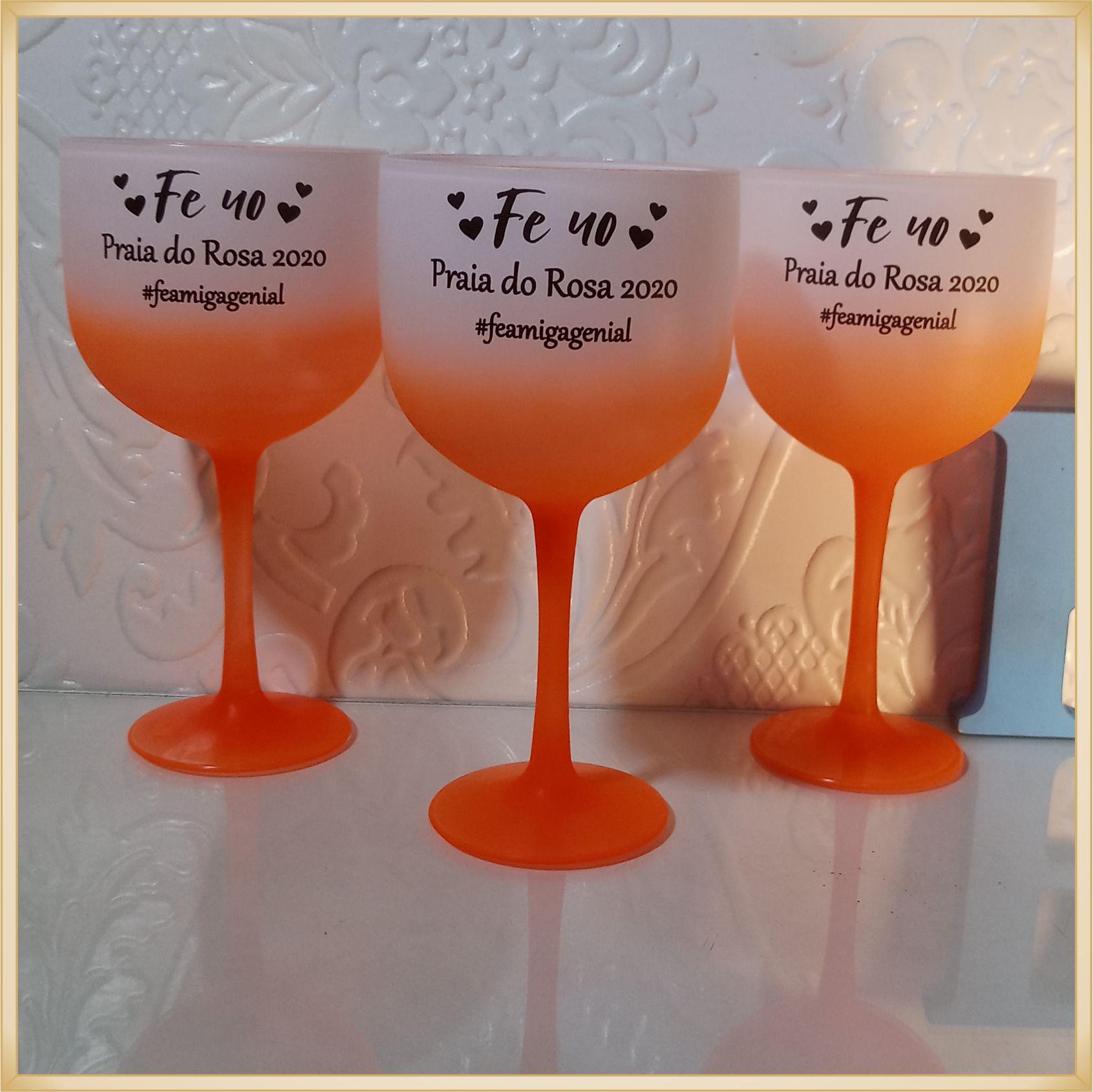 Taças de gin degrade personalizadas - kit com 11 unidades