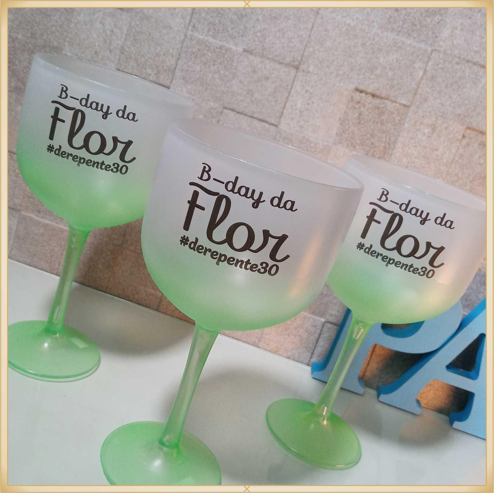 Taças de gin degradê personalizadas - kit com 11 unidades
