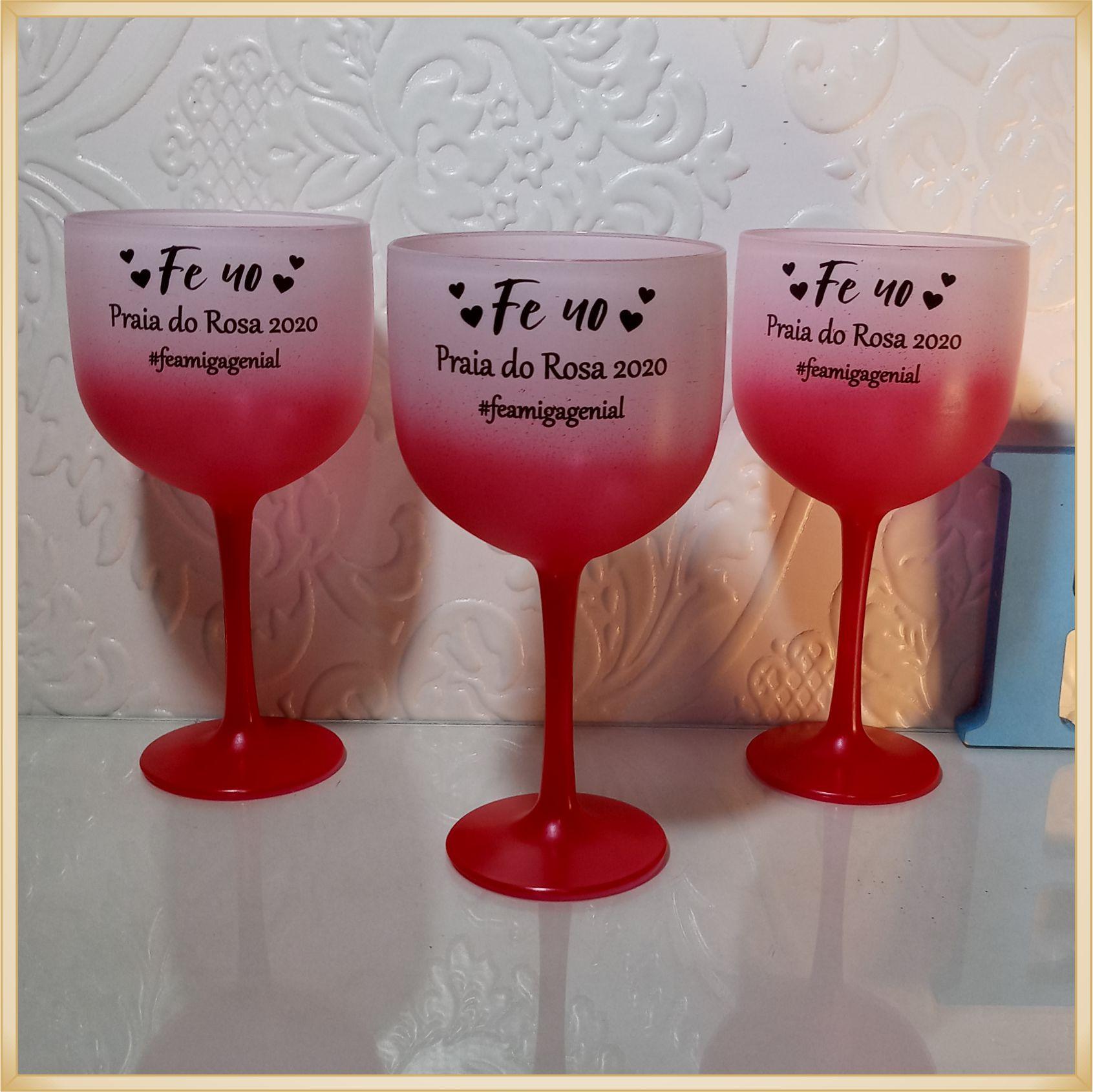 Taças de gin degradê personalizadas - kit com 17 unidades