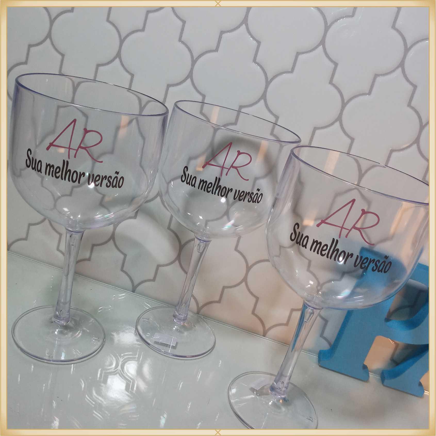 Taças de gin personalizadas - alta qualidade, brilhante, ótimo acabamento, parede de 2,5mm, material atóxico, 580 ml - kit 15 unidades