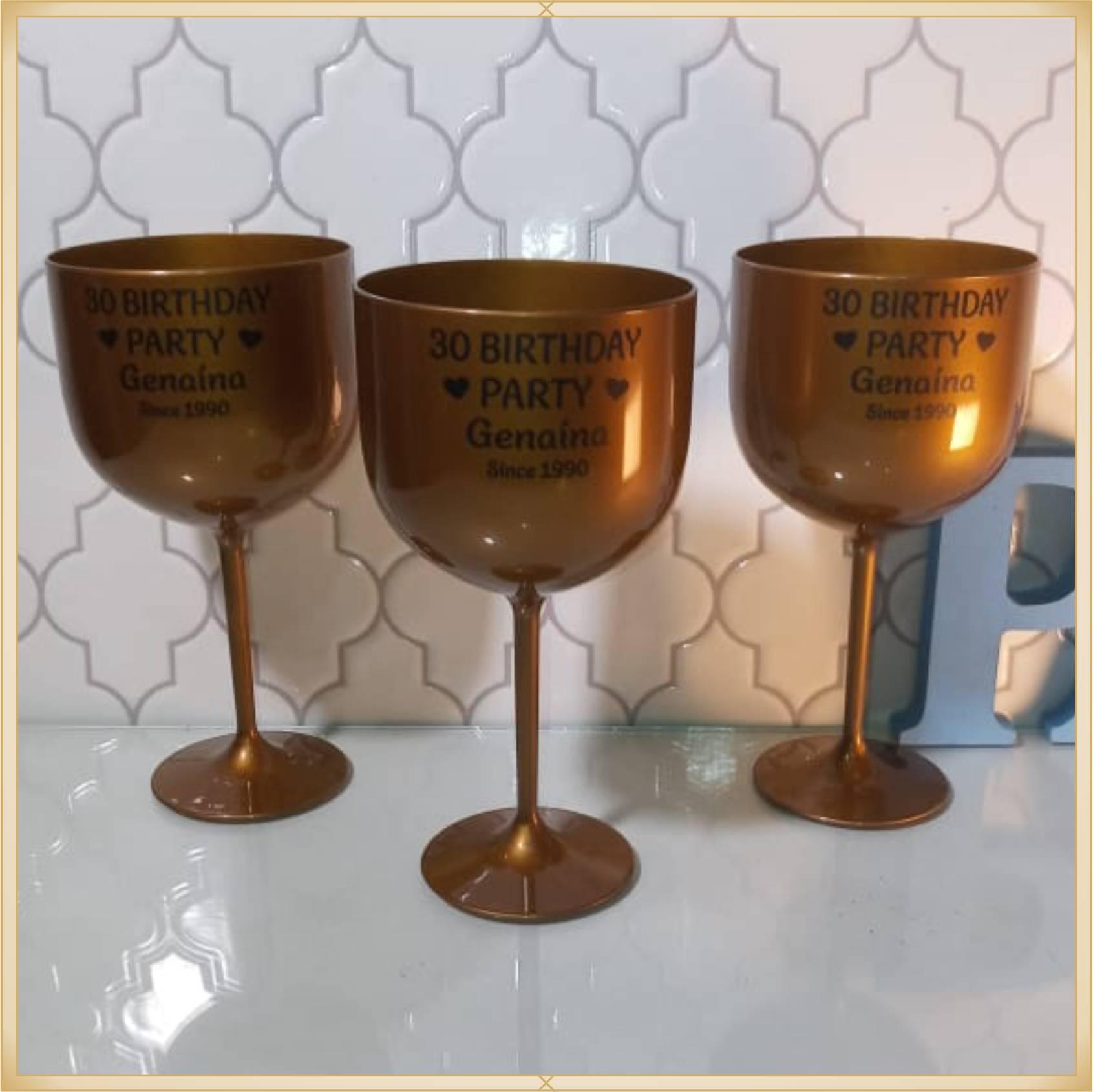 Taças de gin personalizadas - alta qualidade, brilhante, ótimo acabamento, parede de 2,5mm, material atóxico, 580 ml - kit 50 unidades