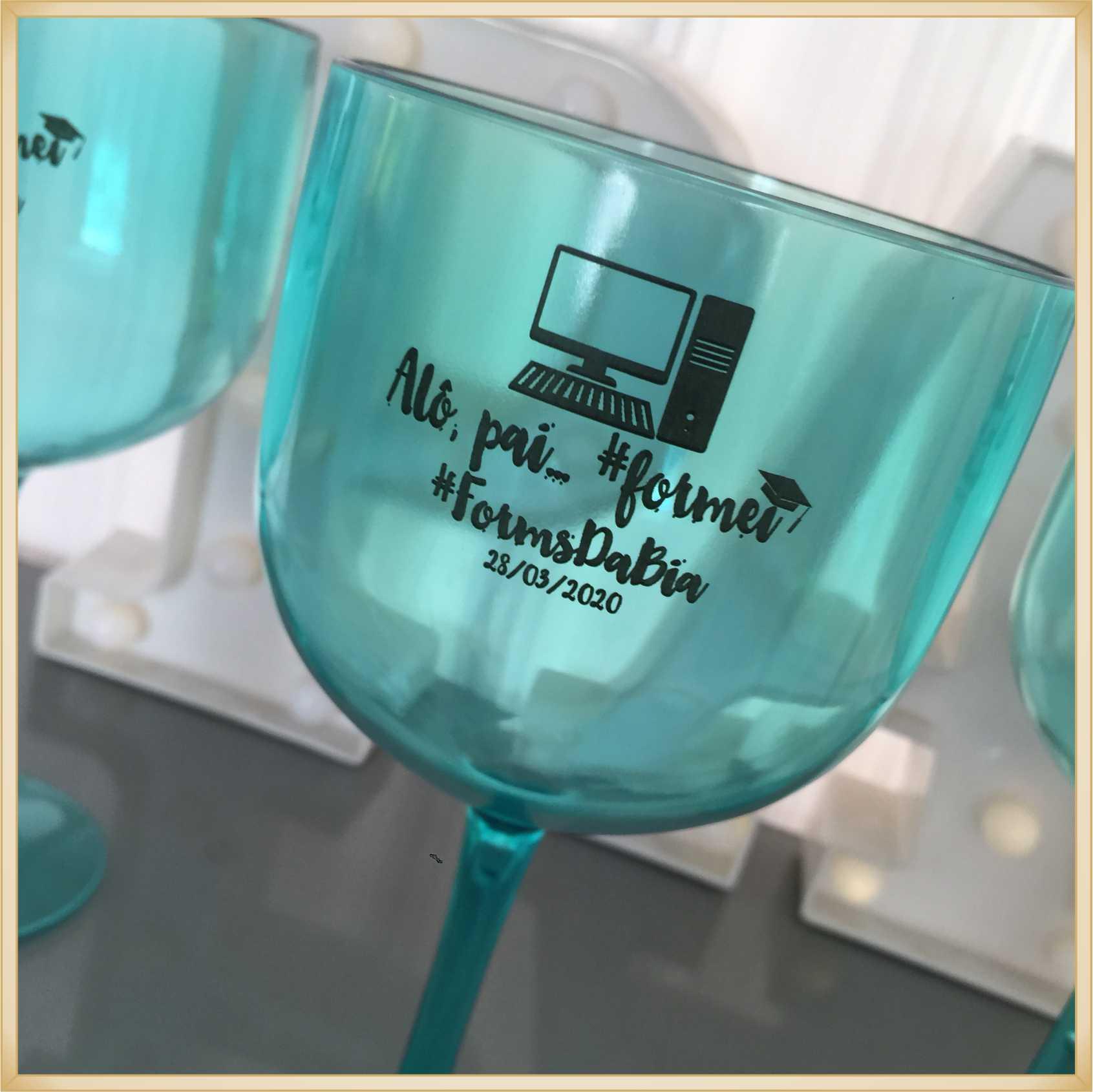 Taças de gin personalizadas - alta qualidade, brilhante, ótimo acabamento, parede de 2,5mm, material atóxico, 580 ml - kit 40 unidades