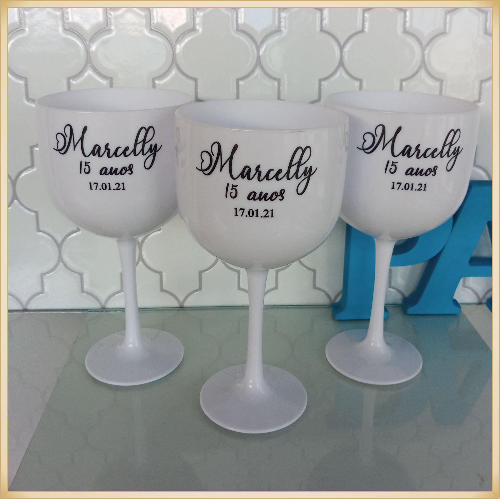 Taças de gin personalizadas - alta qualidade, brilhante, ótimo acabamento, parede de 2,5mm, material atóxico, 580 ml - kit 20 unidades