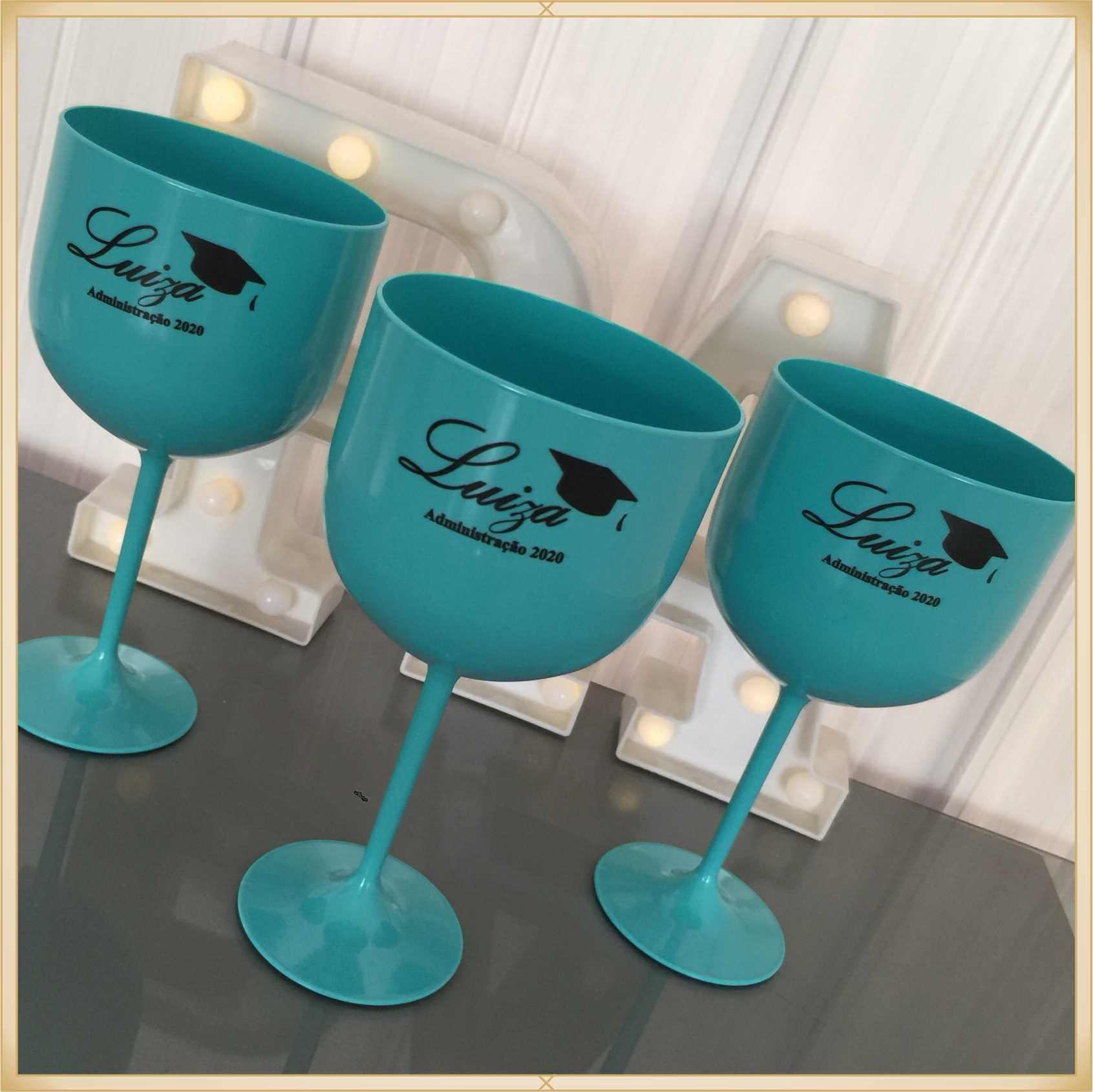 Taças de gin personalizadas - alta qualidade, brilhante, ótimo acabamento, parede de 2,5mm, material atóxico, 580 ml - kit 10 unidades