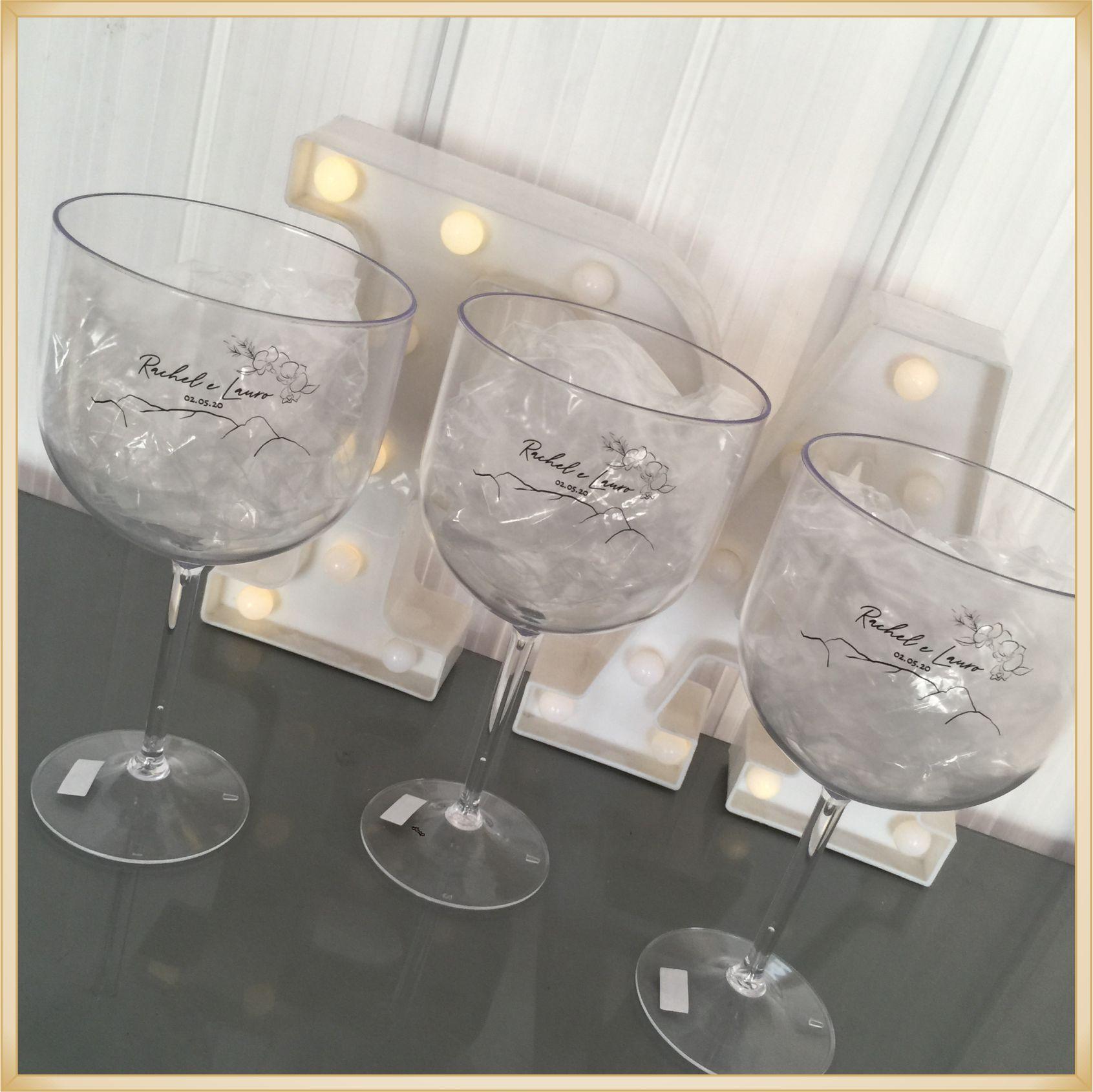Taças de gin personalizadas Despedida de Solteira - alta qualidade, brilhante, ótimo acabamento, parede de 2,5mm, material atóxico, 580ml