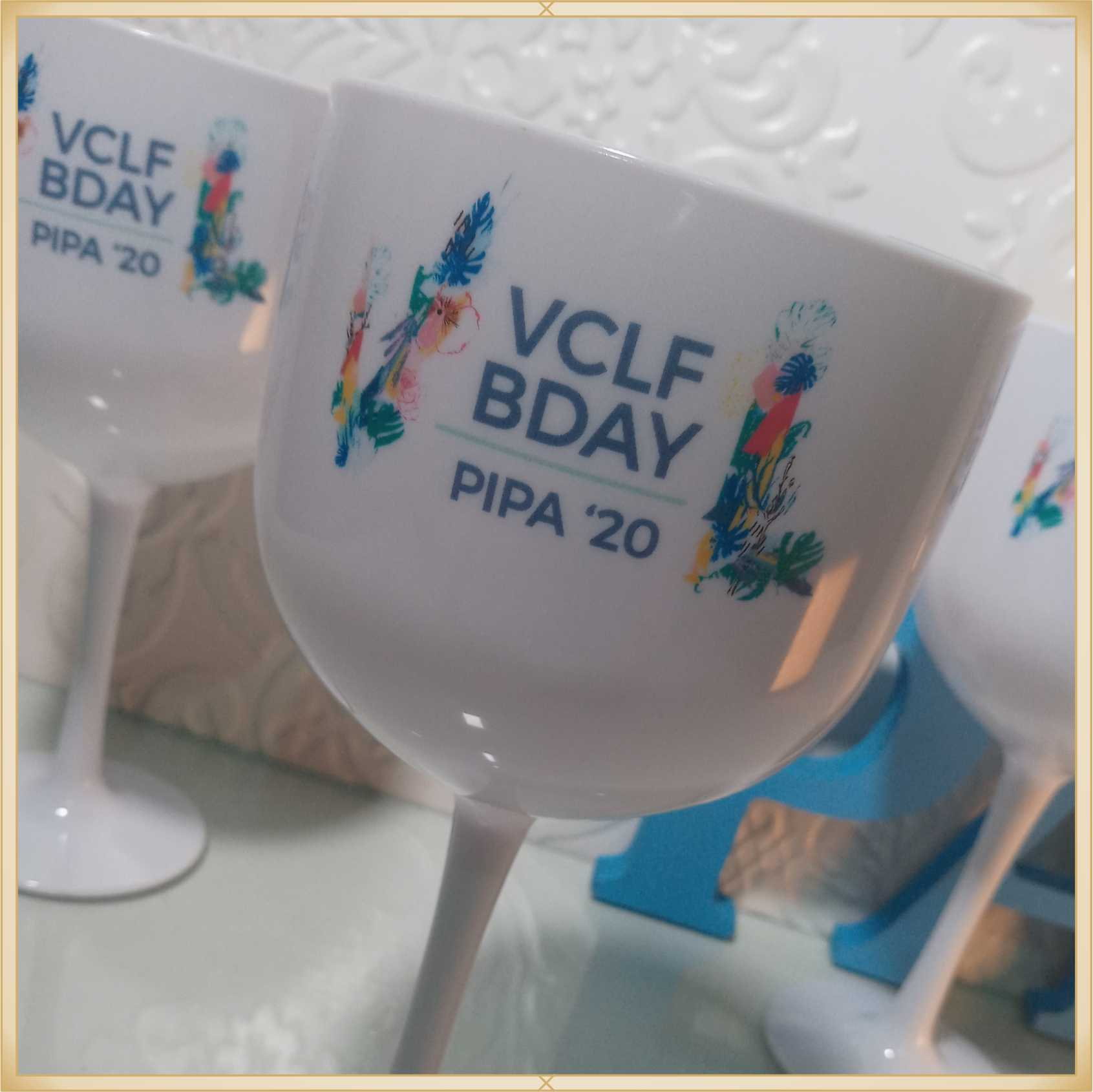 Taças de gin personalizadas Empresarial - alta qualidade, brilhante, ótimo acabamento, parede de 2,5 mm, material atóxico, 580 ml - kit com 15 unidades