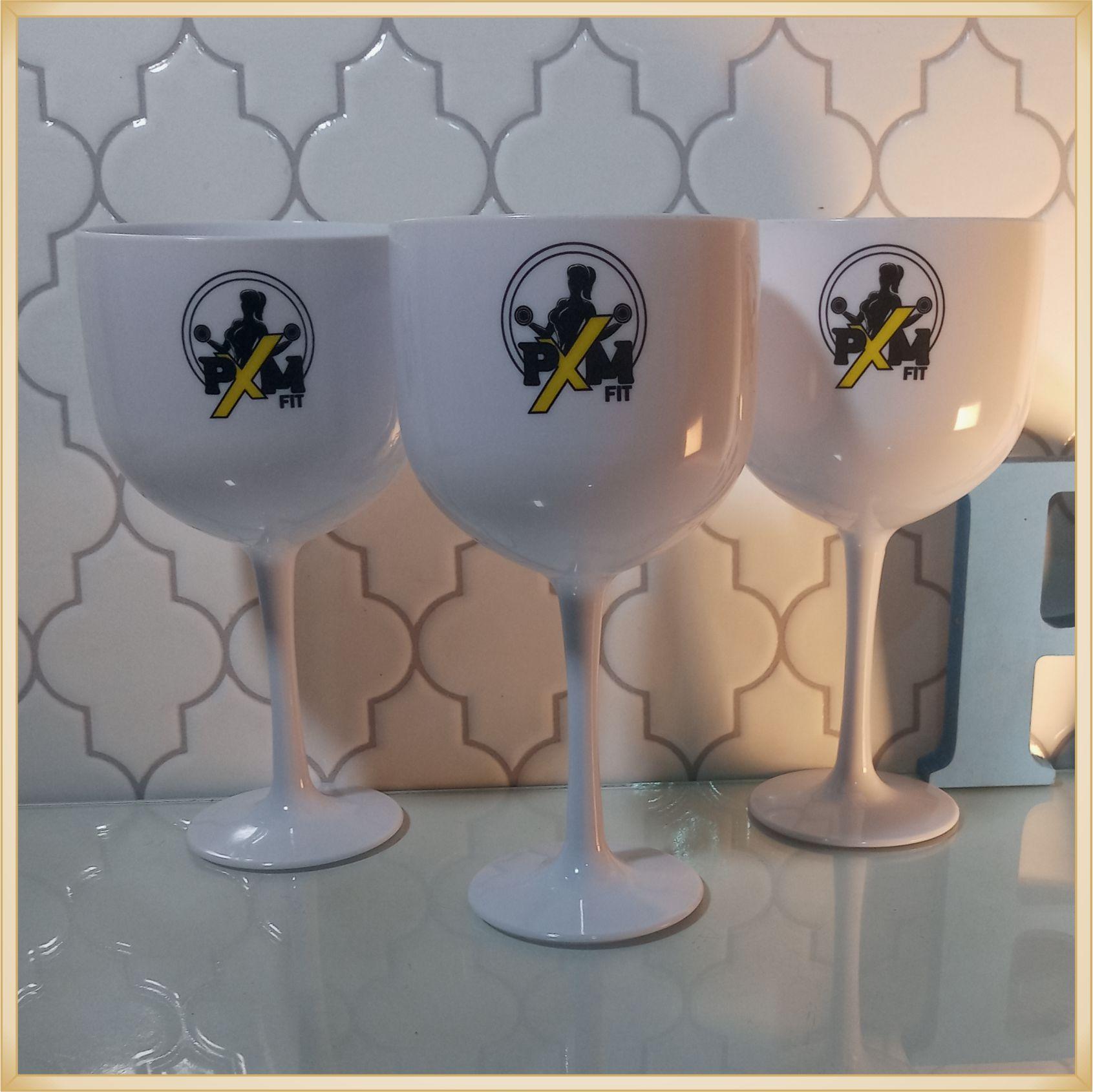 Taças de gin personalizadas Empresarial - alta qualidade, brilhante, ótimo acabamento, parede de 2,5 mm, material atóxico, 580 ml