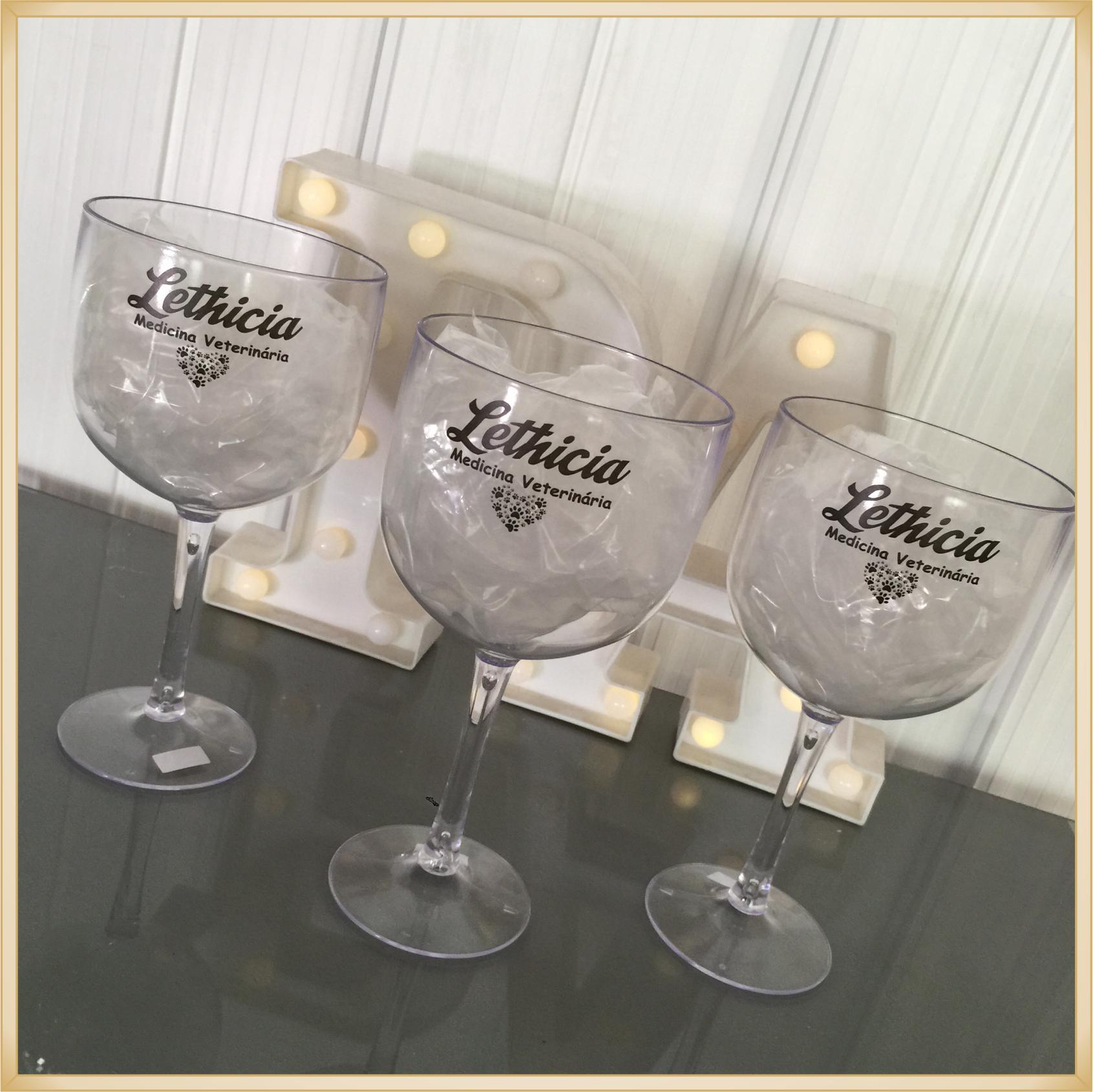 Taças de gin personalizadas Formatura - alta qualidade, brilhante, ótimo acabamento, parede de 2,5 mm, material atóxico, 580 ml - kit com 30 unidades