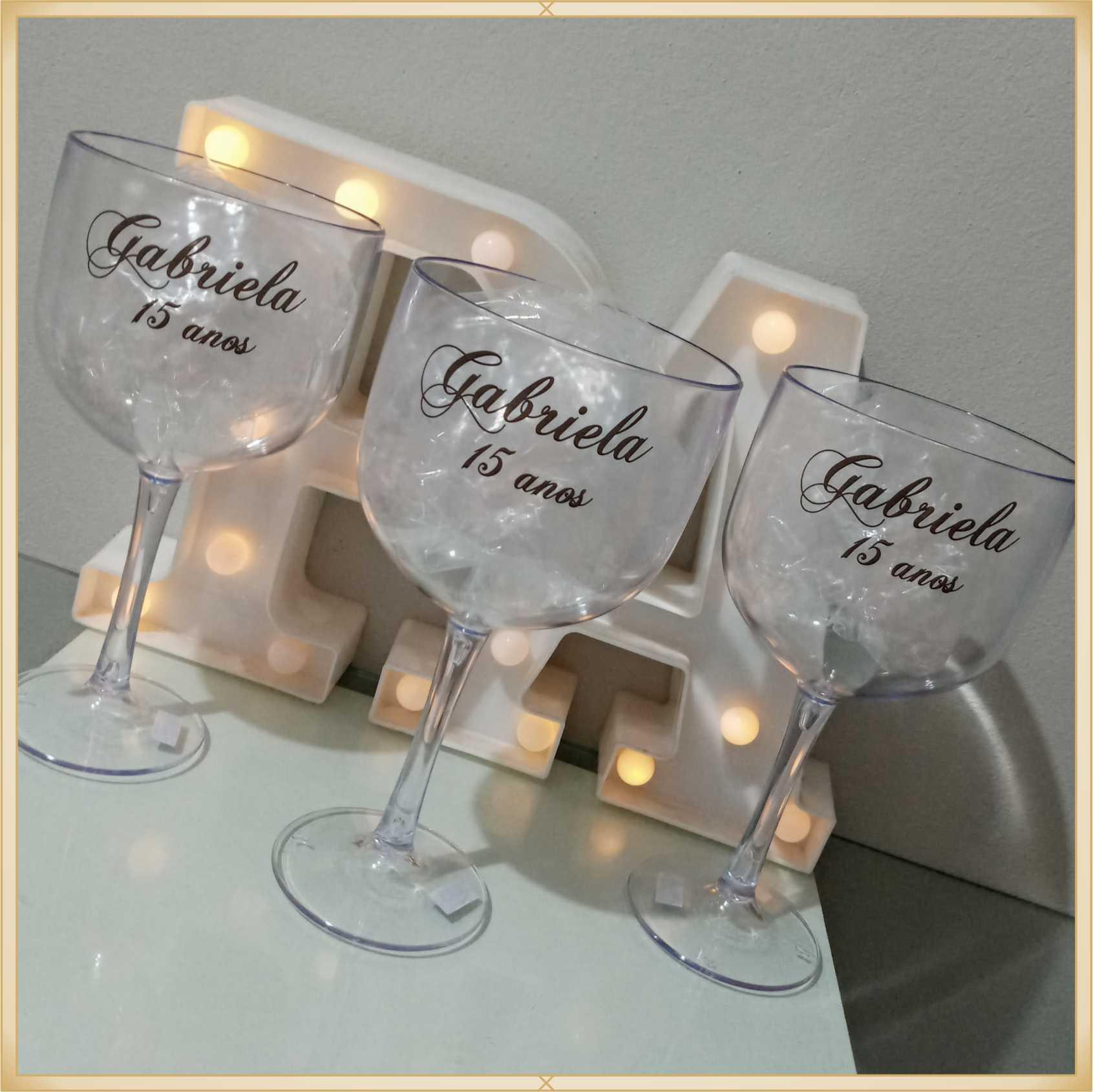 Taças de gin personalizadas - kit com 10 unidades