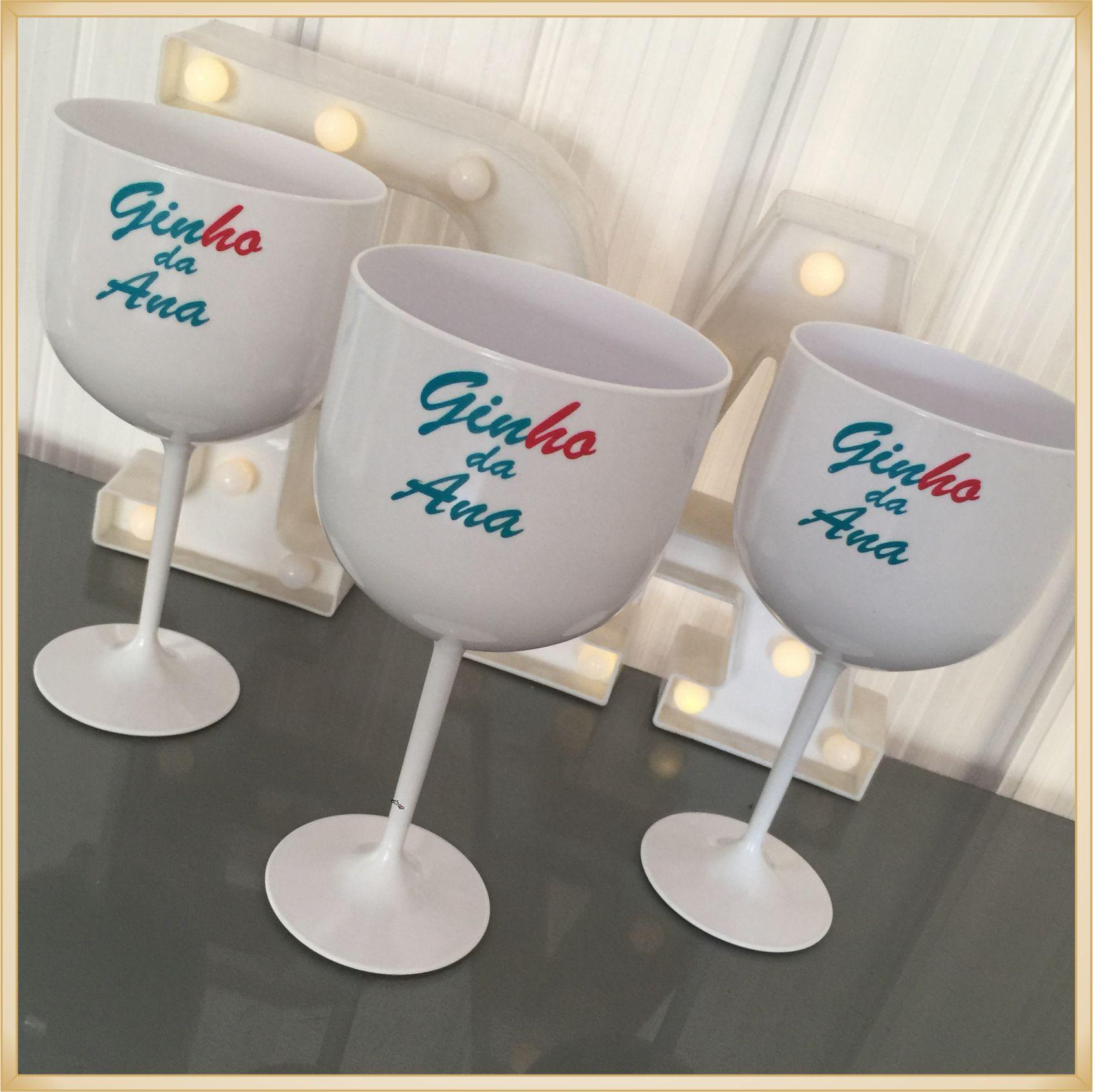 Taças de gin personalizadas - kit com 25 unidades