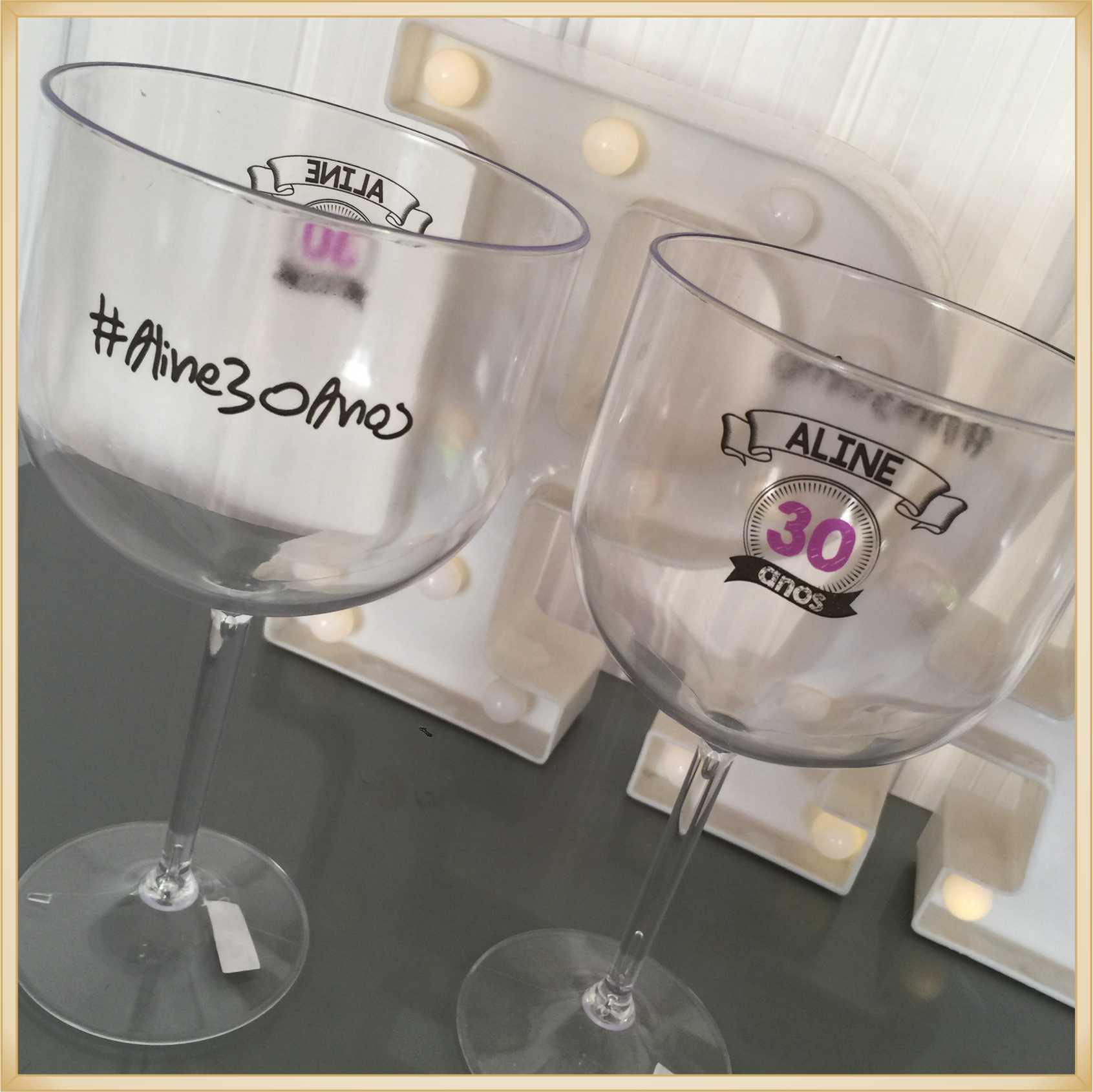 Taças de gin personalizadas - kit com 40 unidades
