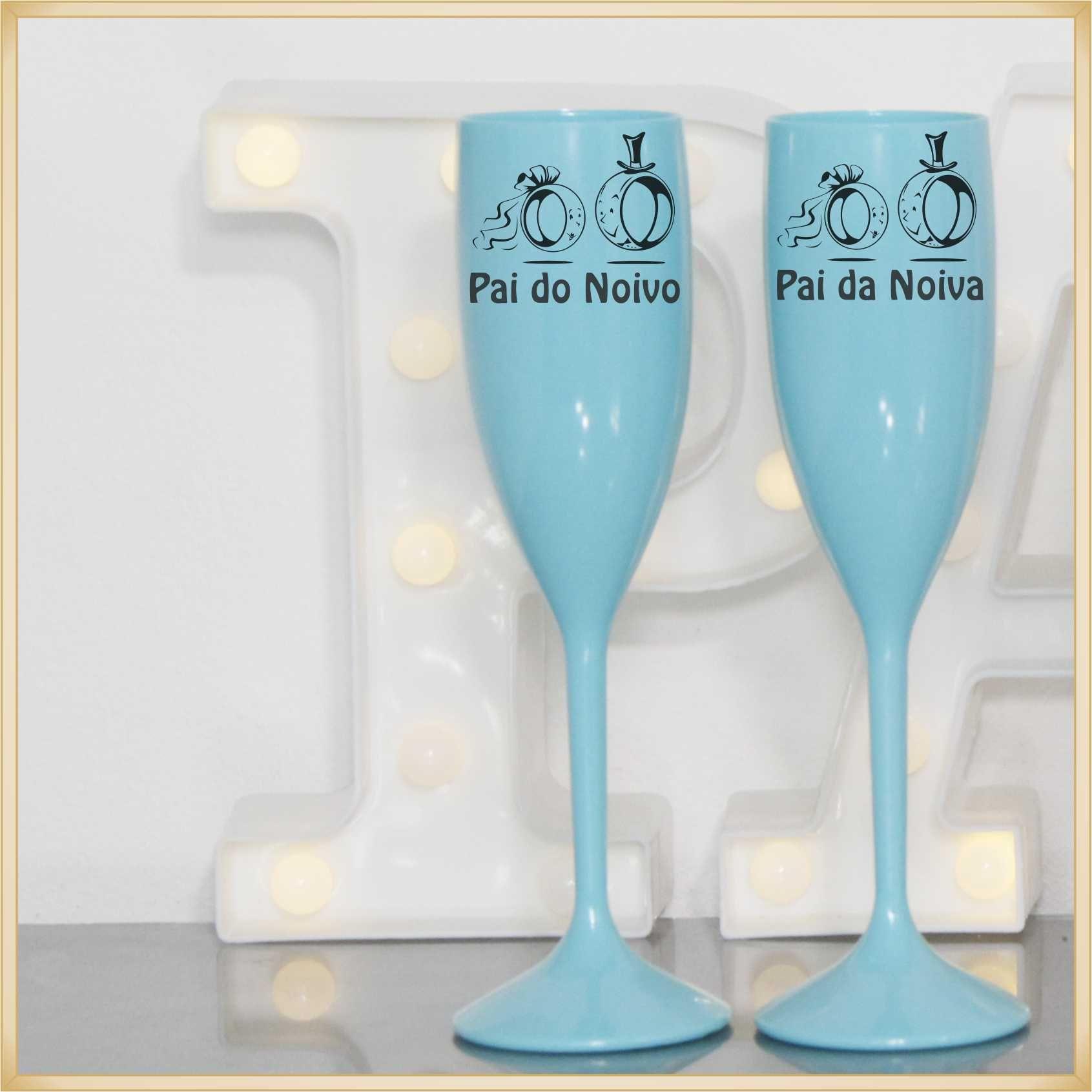 Taças para Casamento Lembrancinhas para os pais e noivos - Kit com 06 unidades
