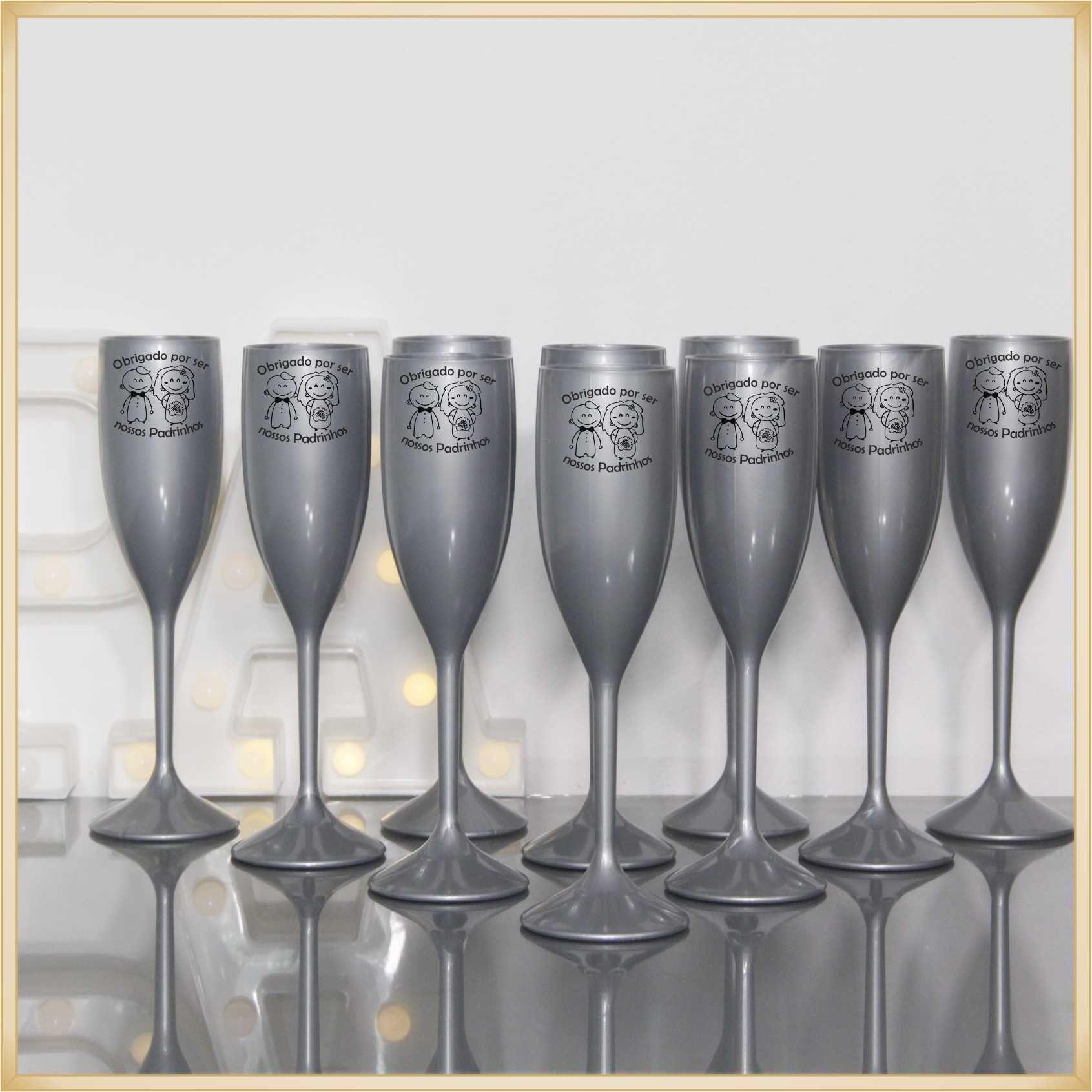 Taças para Casamento Lembrancinhas para Padrinhos e Madrinhas - Kit com 10 unidades