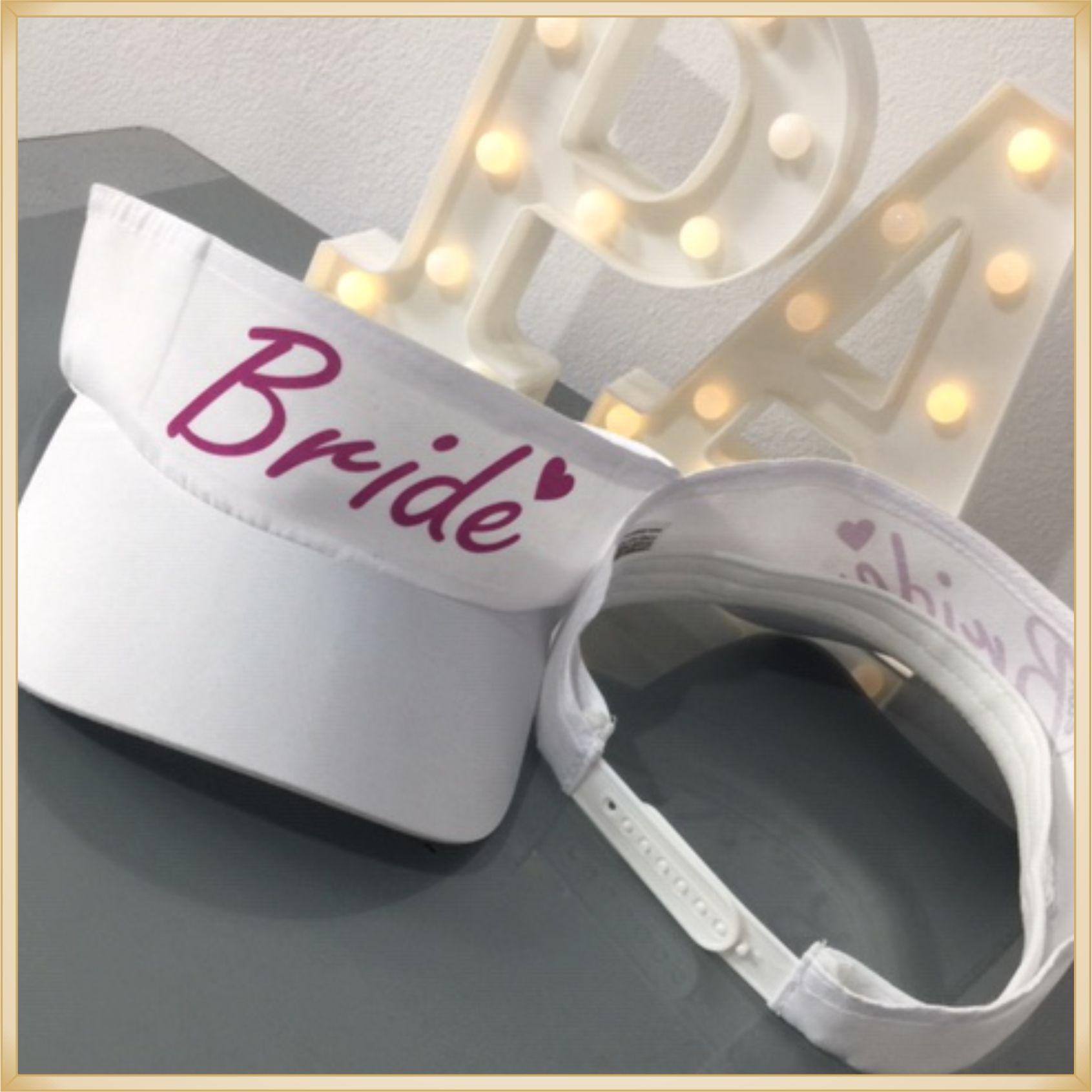 ... 10 Viseiras feminina personalizada para festa Despedida de solteira  Team Bride Chá bar Dia da noiva ... 2428f5b0197