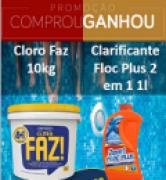 Cloro Granulado FAZ 4+1 10 KG + 01 Clarificante 1Lt HIDROAZUL