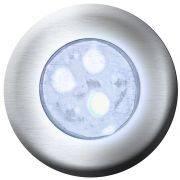 Hiper led 9w latão Monocromático Branco p/ até 18m² Sodramar