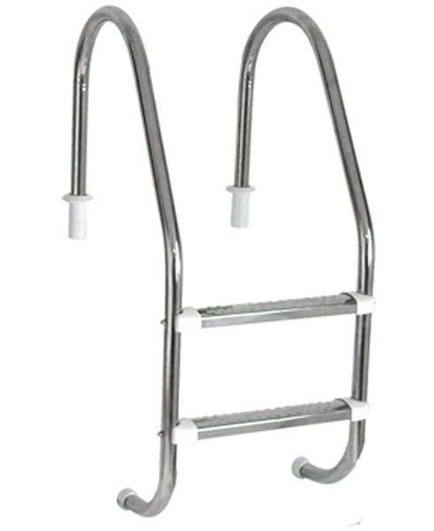 Escada Tradicional 1 1/2´´ em Aço Inox 2 Degraus Anatômicos em Inox Sodramar