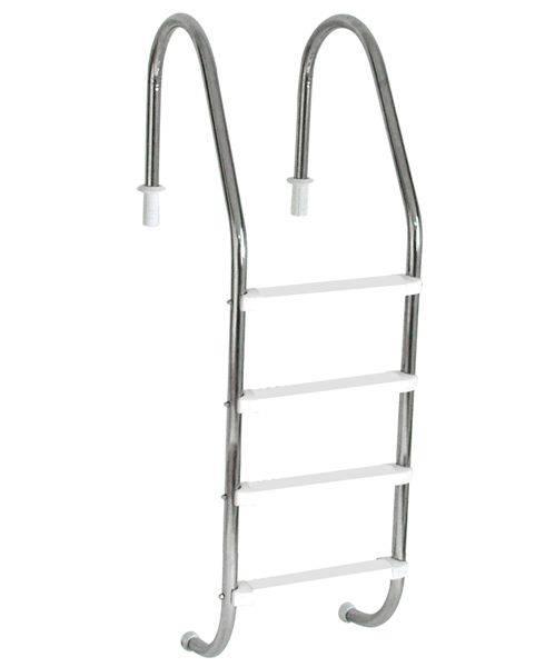 Escada Tradicional 1 1/2´´ em Aço Inox 4 Degraus Anatômicos em ABS Sodramar