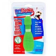 Brinquedo Mordedor Pet Escova Pet Games Pequena Verde