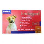 ENDOGARD VERMIFUGO VIRBAC 10 Kg com 2 comprimidos